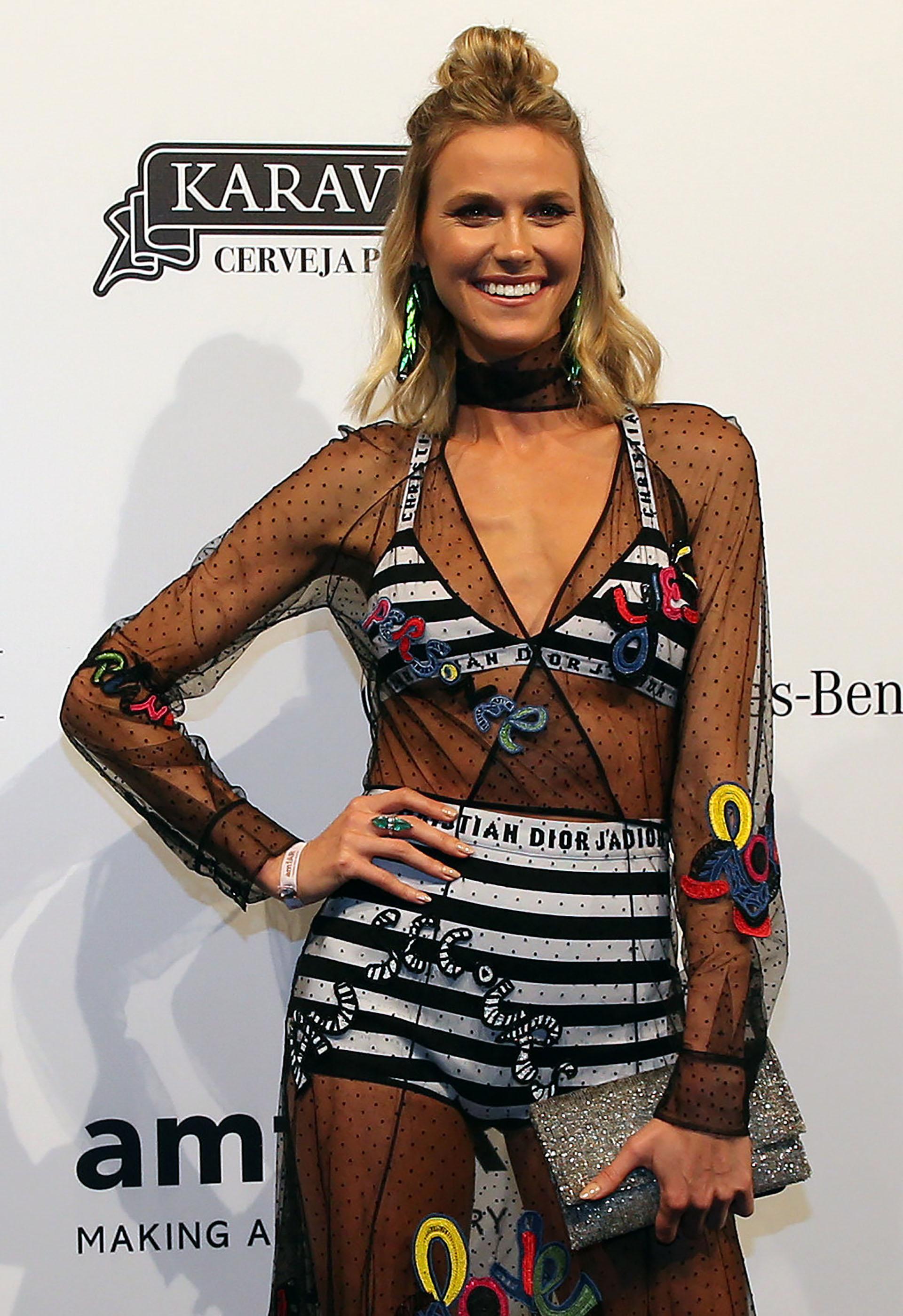 La modelo brasileña Renata Kuerten