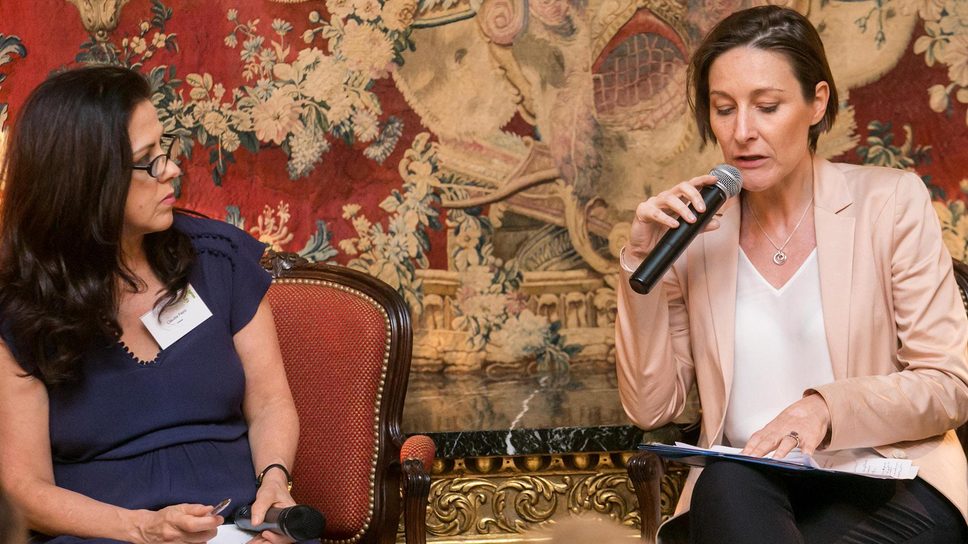 Claudia Peiró (Infobae) y Aude Maio-Coliche (Jefa de la Delegación de la Unión Europea en Argentina)