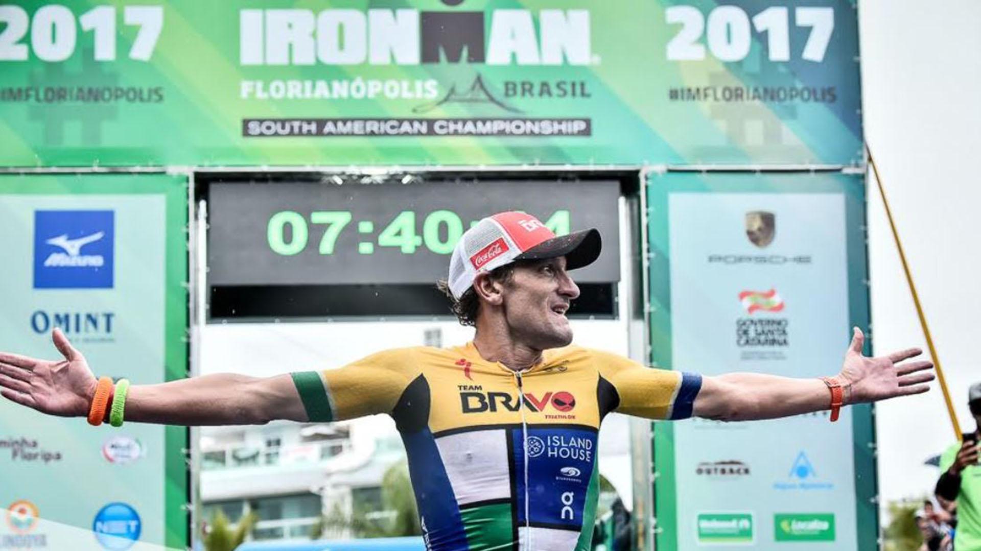 Don estableció un récord mundial en el Ironman de Brasil