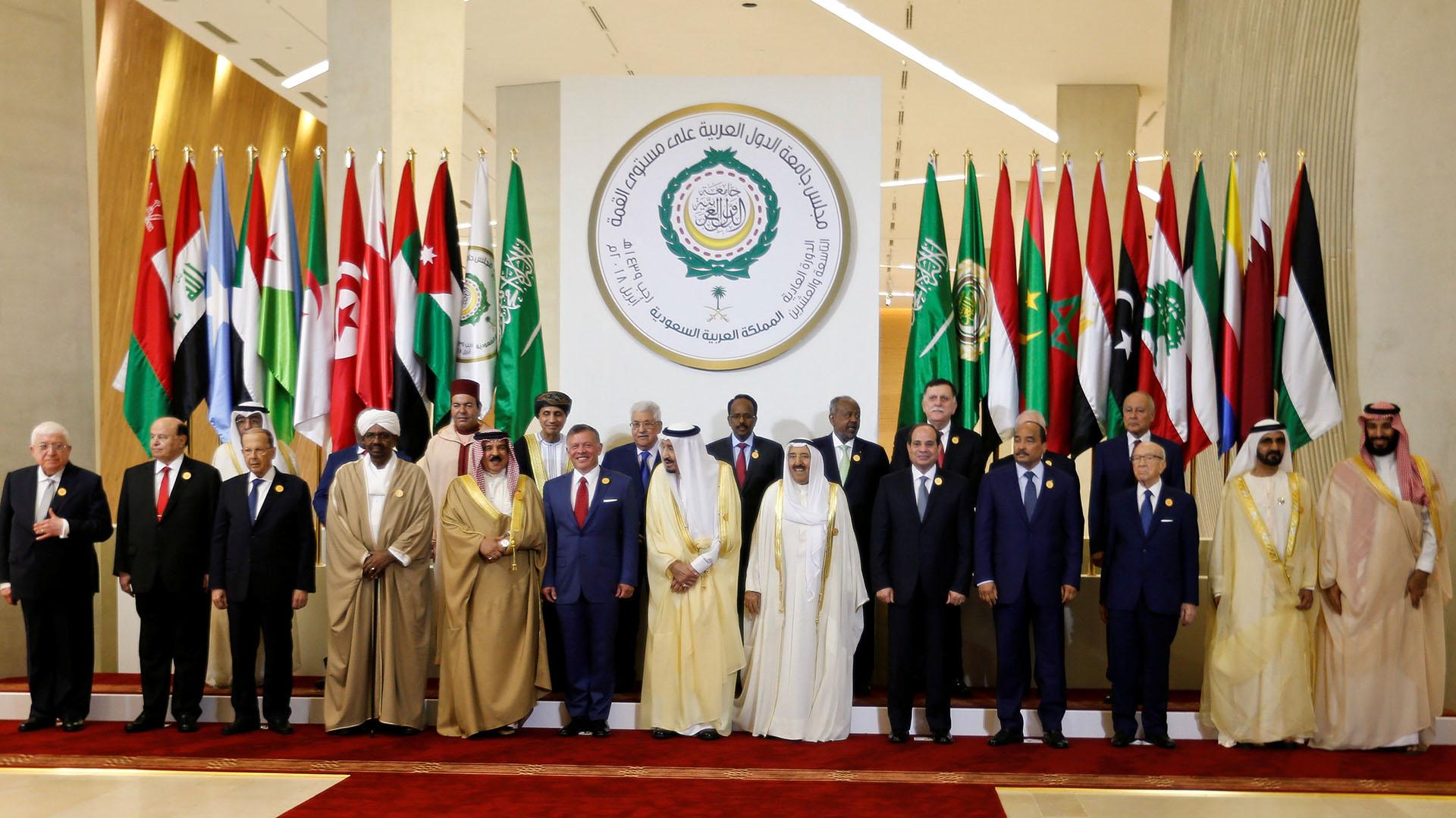 Los líderes árabes reunidos (Reuters)