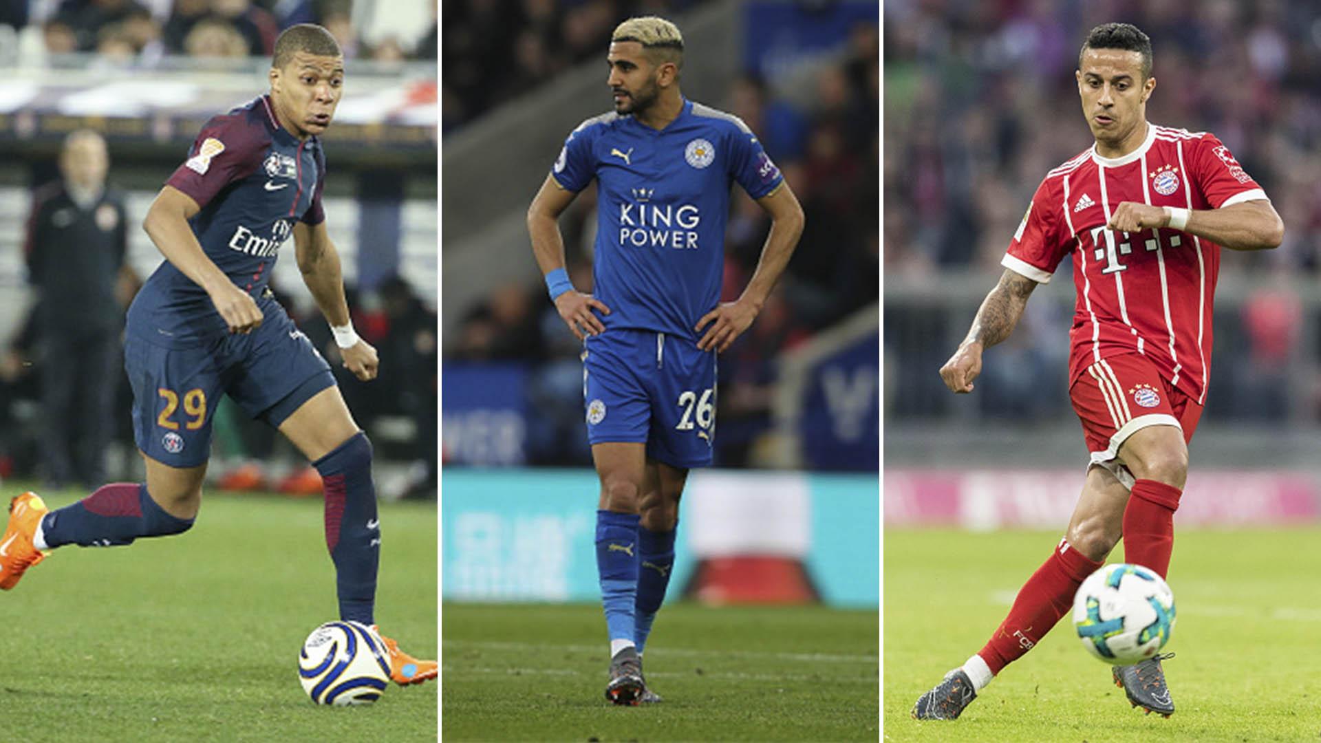 Mbappé, Mahrez y Alcántara, son algunos de los nombres que suenan en el Manchester City (Getty)