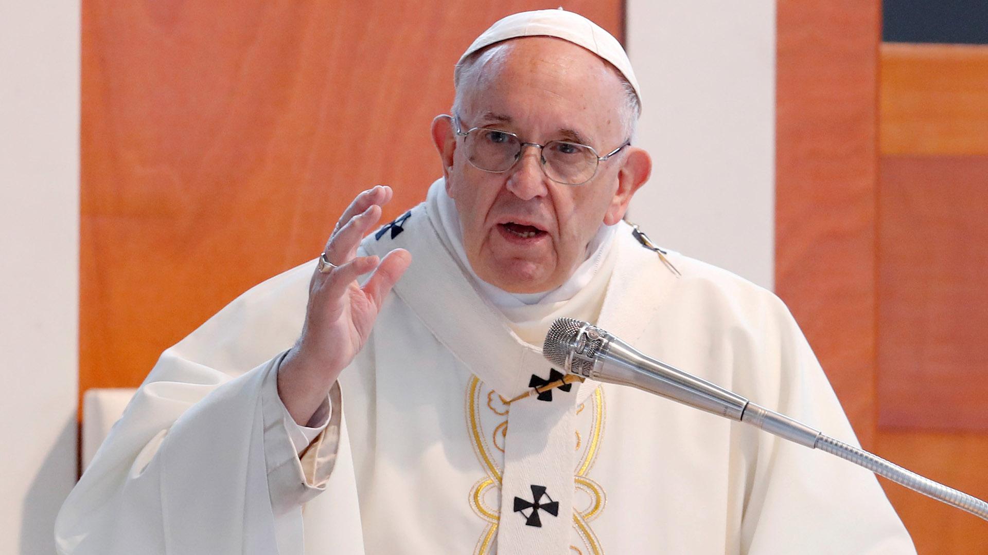 Francisco se refirió este domingo a la crisis siria(REUTERS)