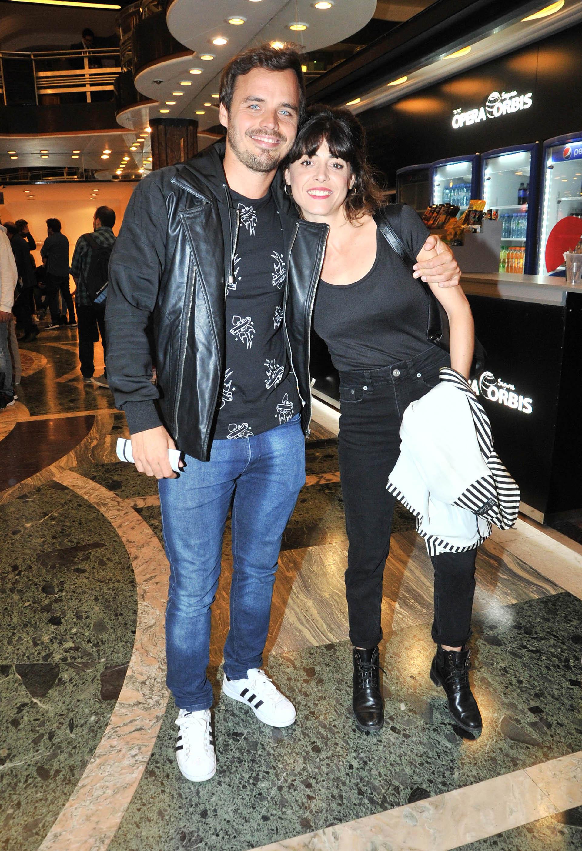 Benjamín Rojas y su novia, Martina Sánchez Acosta