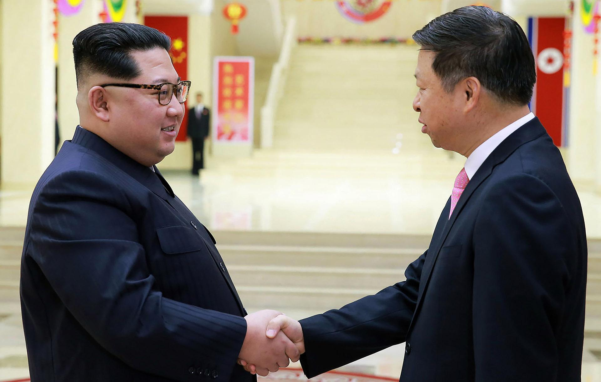 Kim Jong-un recibió a Song Tao (AFP)