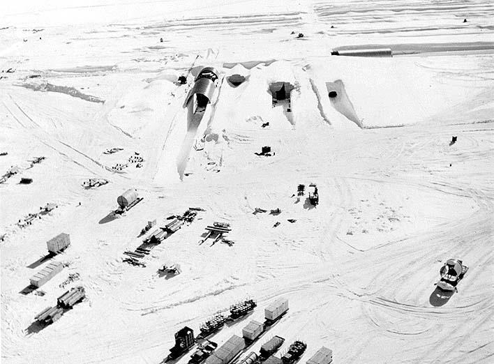 Reactores nucleares en Camp Century, Groenlandia. Imagen: US Army/Wikimedia Commons
