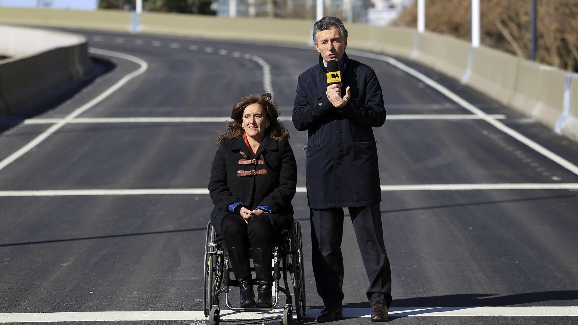 La bajada de la Illia fue inaugurada en junio de 2015, por Mauricio Macri y Gabriela Michetti en plena campaña electoral