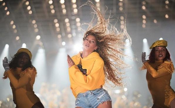 Beyonce se presentó ante 100.000 espectadores en un show que duró dos horas (Instagram: Beyonce)