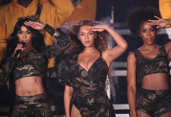 Beyonce cantó junto a su antiguo grupo, Destiny's Child (Instagram: Beyonce)