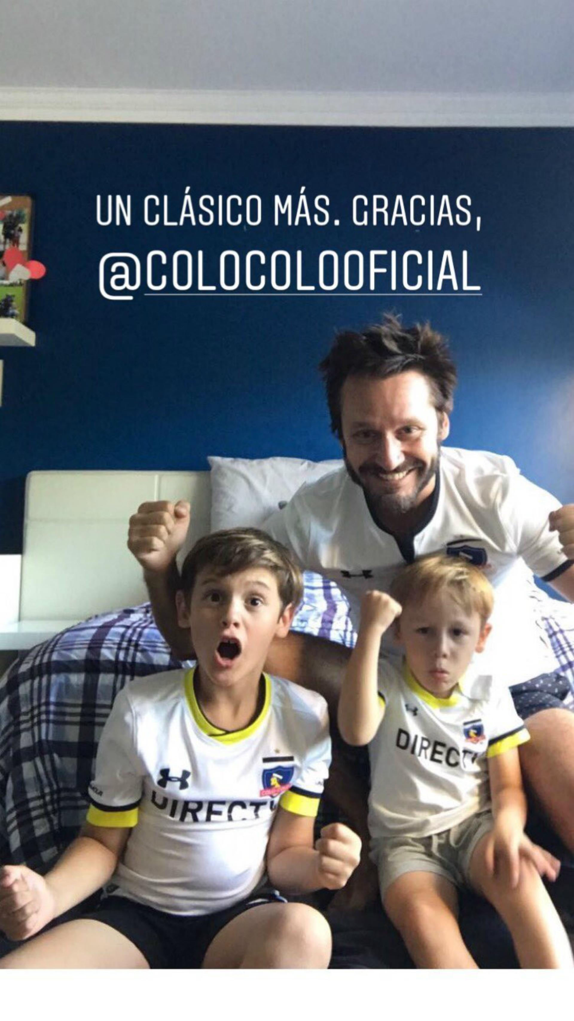 Benjamín y sus hijos festejan el triunfo. (Foto Instagram)