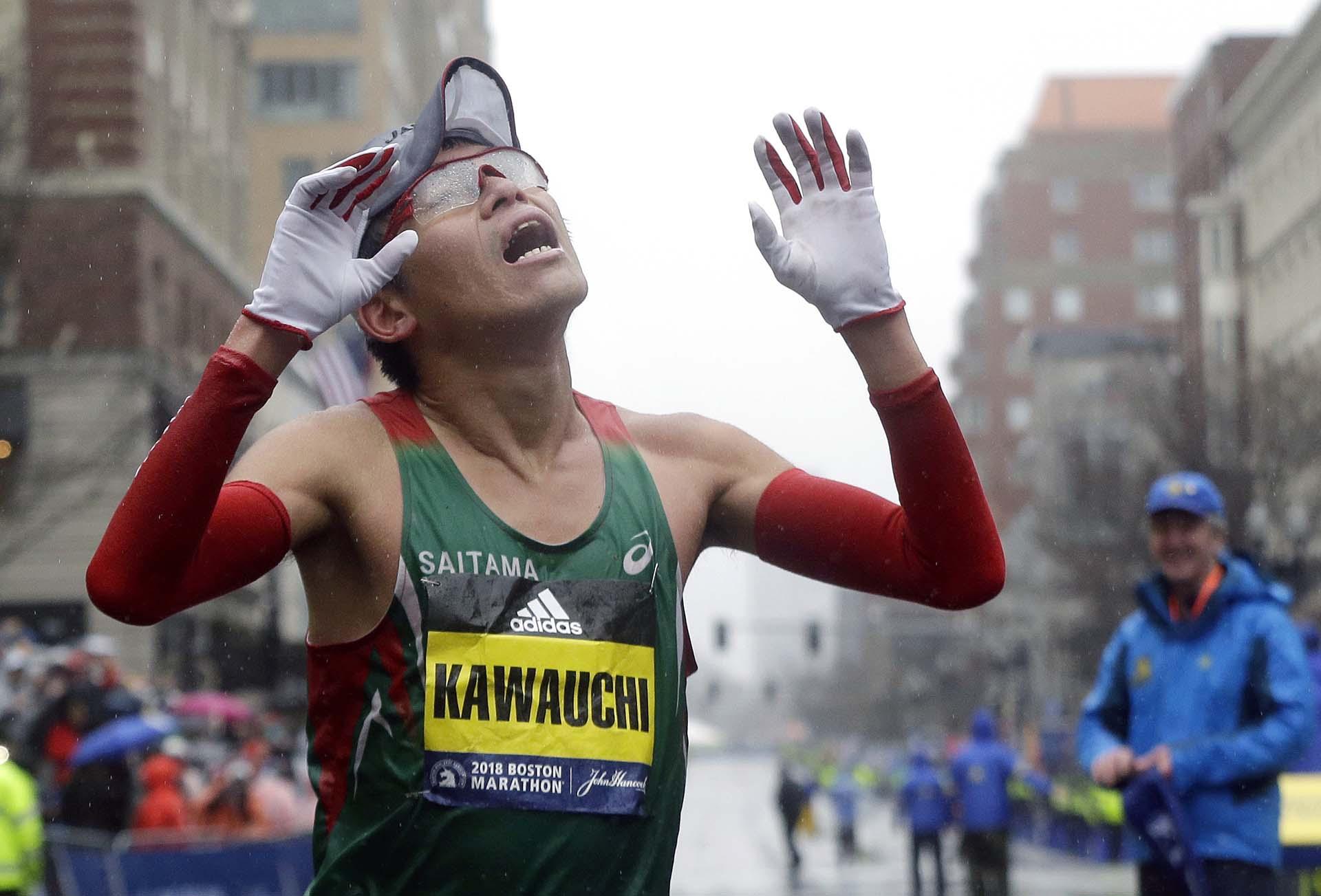 """""""Para mí estas fueron las mejores condiciones posibles que podía tener de cara a conseguir la victoria"""", declaró Kawauchi, de 31 años, al concluir la prueba"""