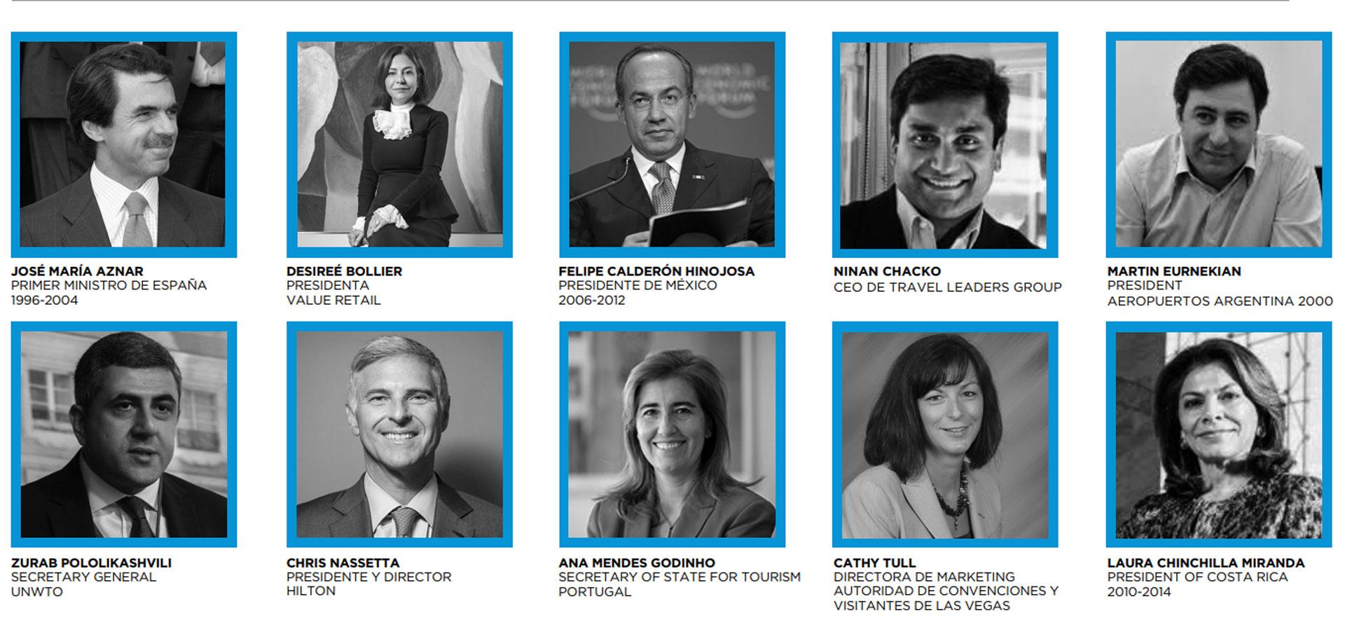 Algunos de los oradores de la World Trade & Travel Council que comienza el 18 de abril.