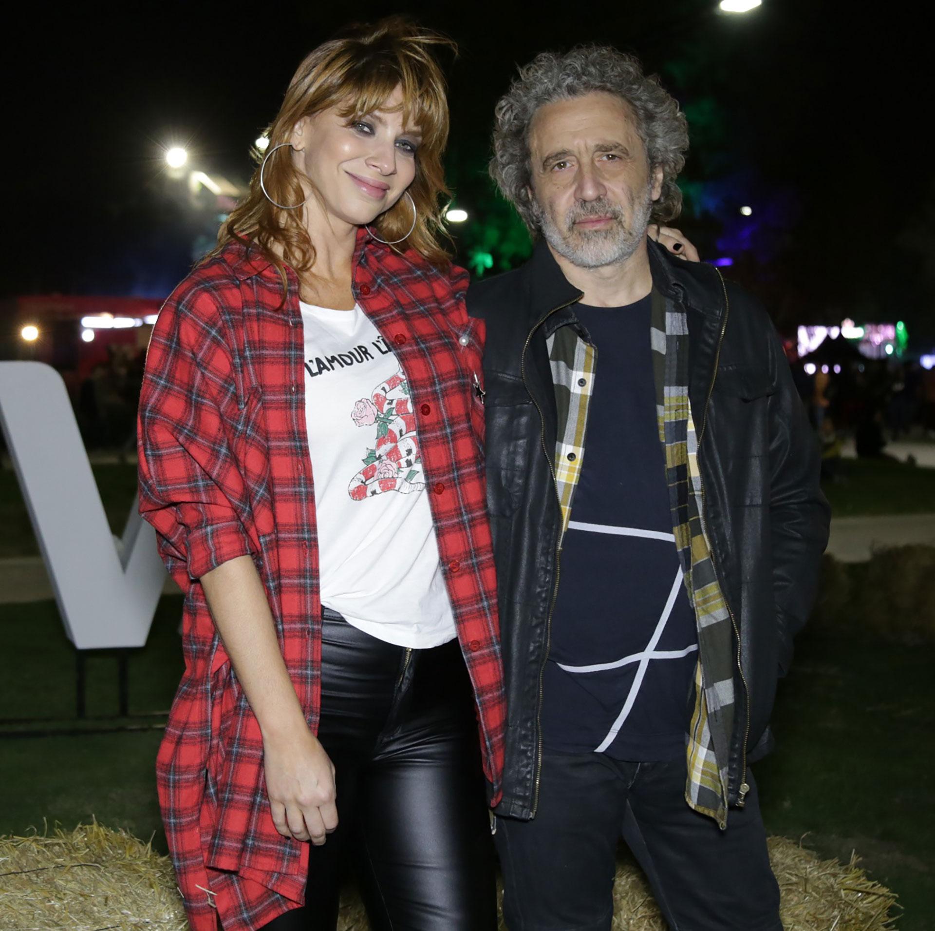 Romina Gaetani con su pareja de los últimos siete años el músico Oski Righi.