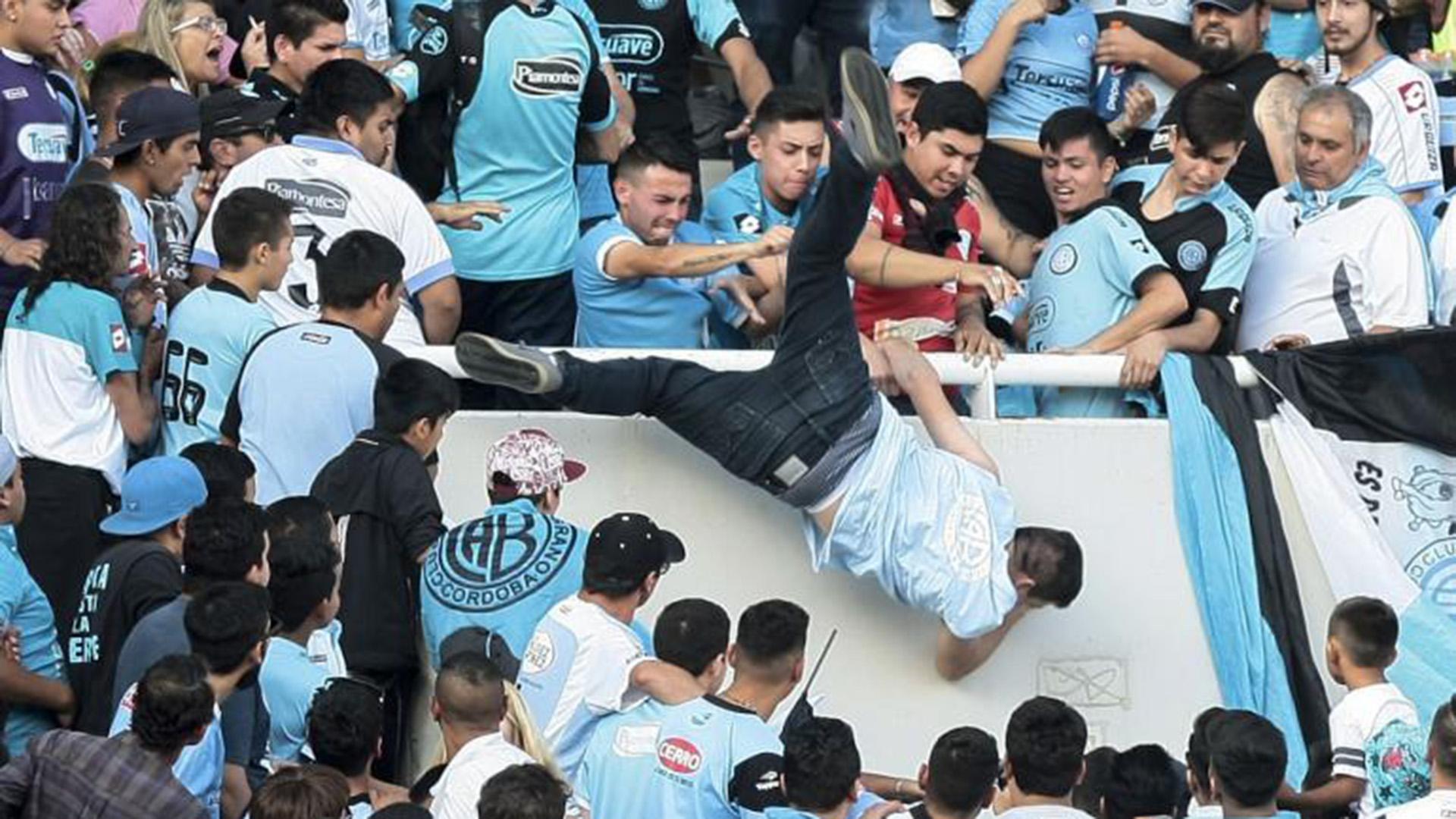Balbo fue arrojado al vacío desde una de las tribunas del estadio Kempes