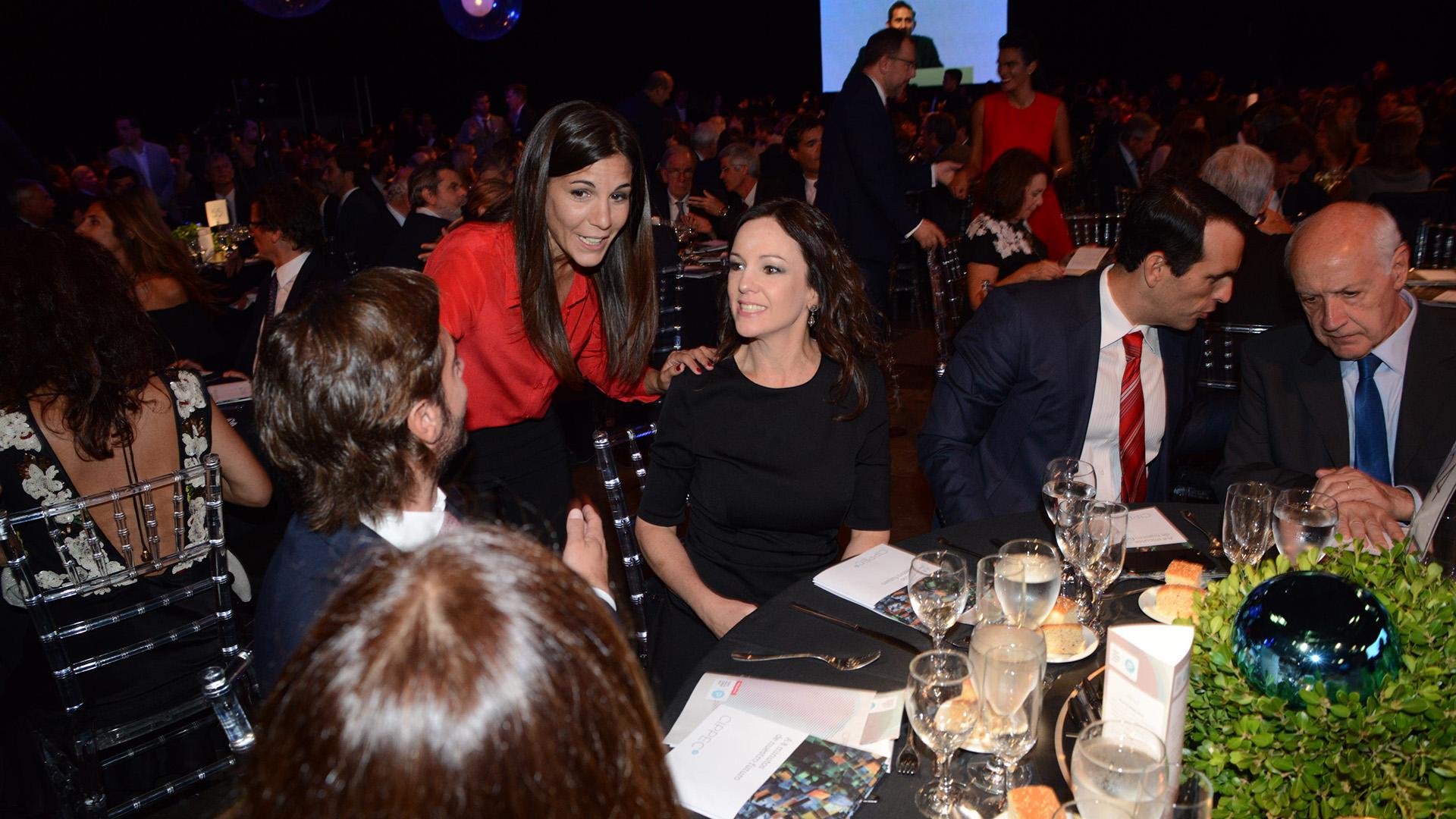 Federico Salvai y Carolina Stanley compartieron la mesa con Roberto Lavagna