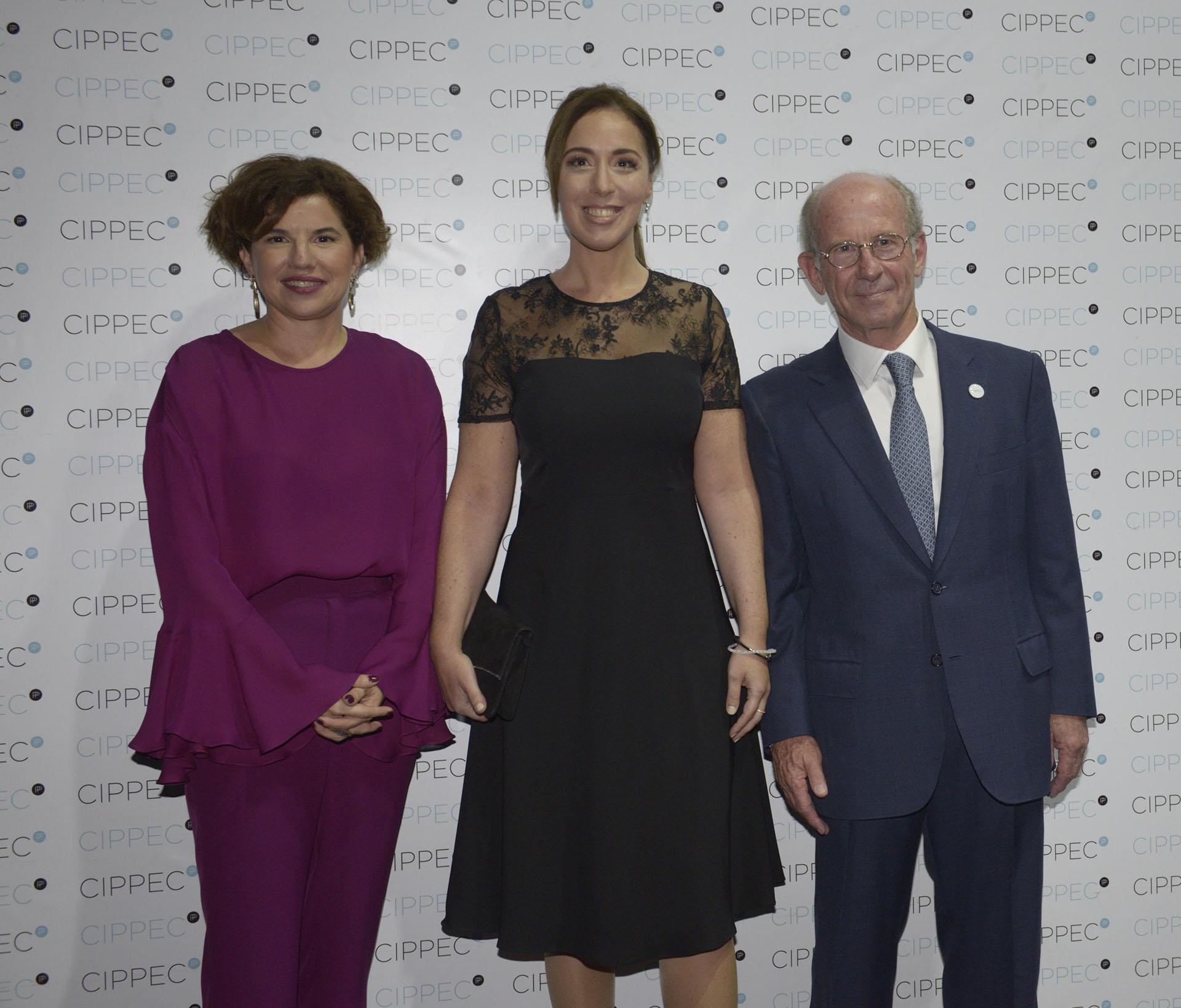 Julia Pomares, María Eugenia Vidal y Jorge Mandelbaum