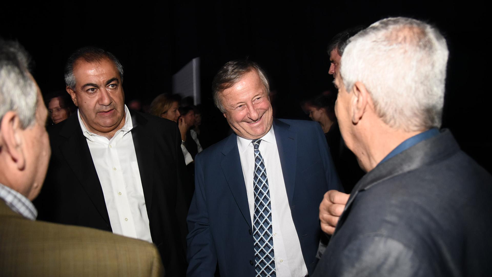 El presidente de Fiat Argentina, Cristiano Rattazzi, junto a Héctor Daer, José Luis Lingeri y Juan Carlos Schmid