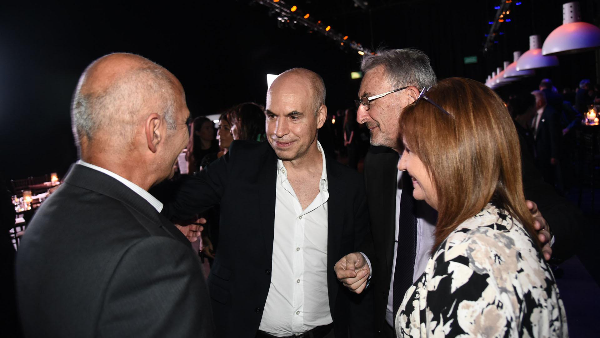 Horacio Rodríguez Larreta, Guillermo Yanco y Patricia Bullrich