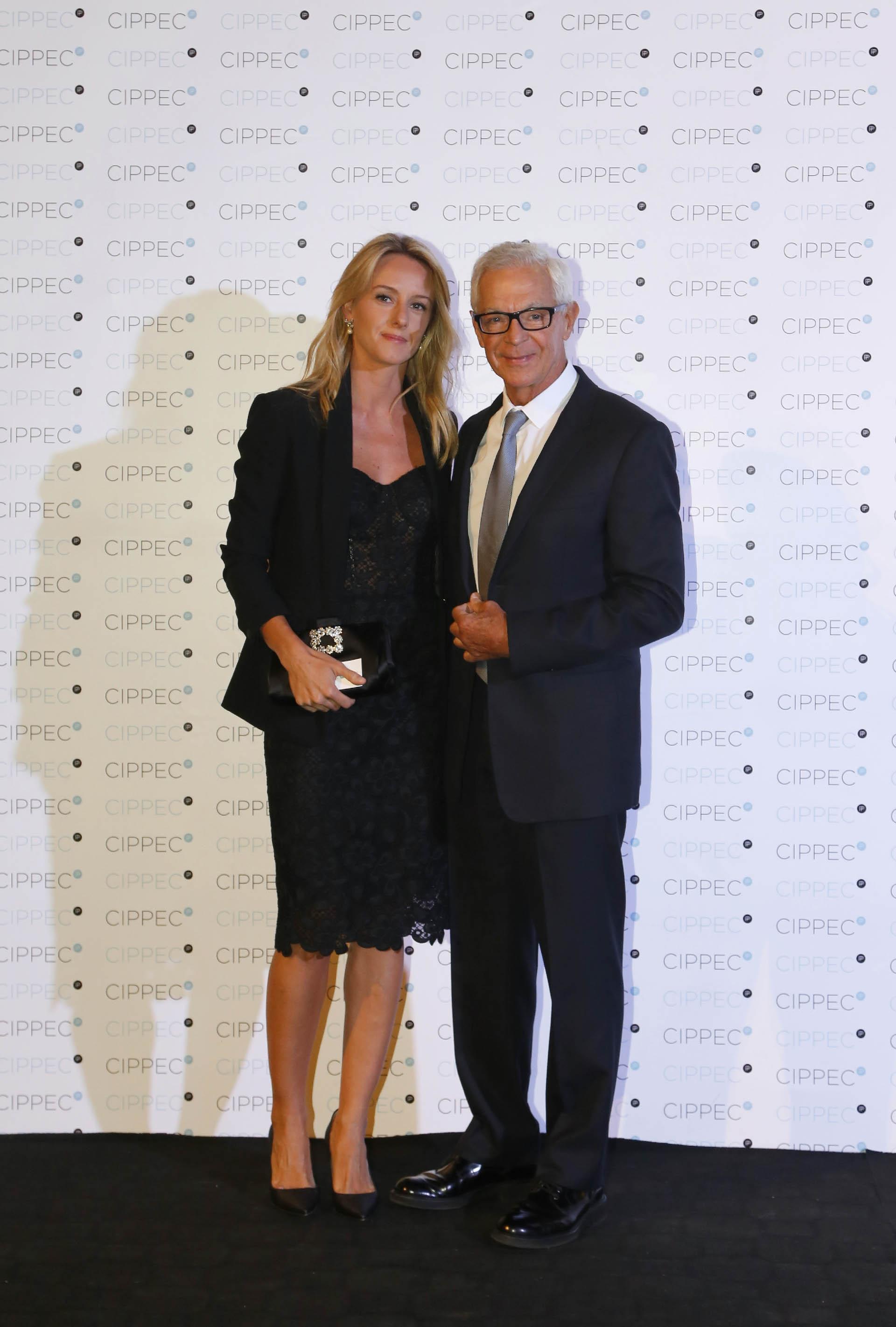 El empresario Eduardo Costantini y Estefanía Daneri