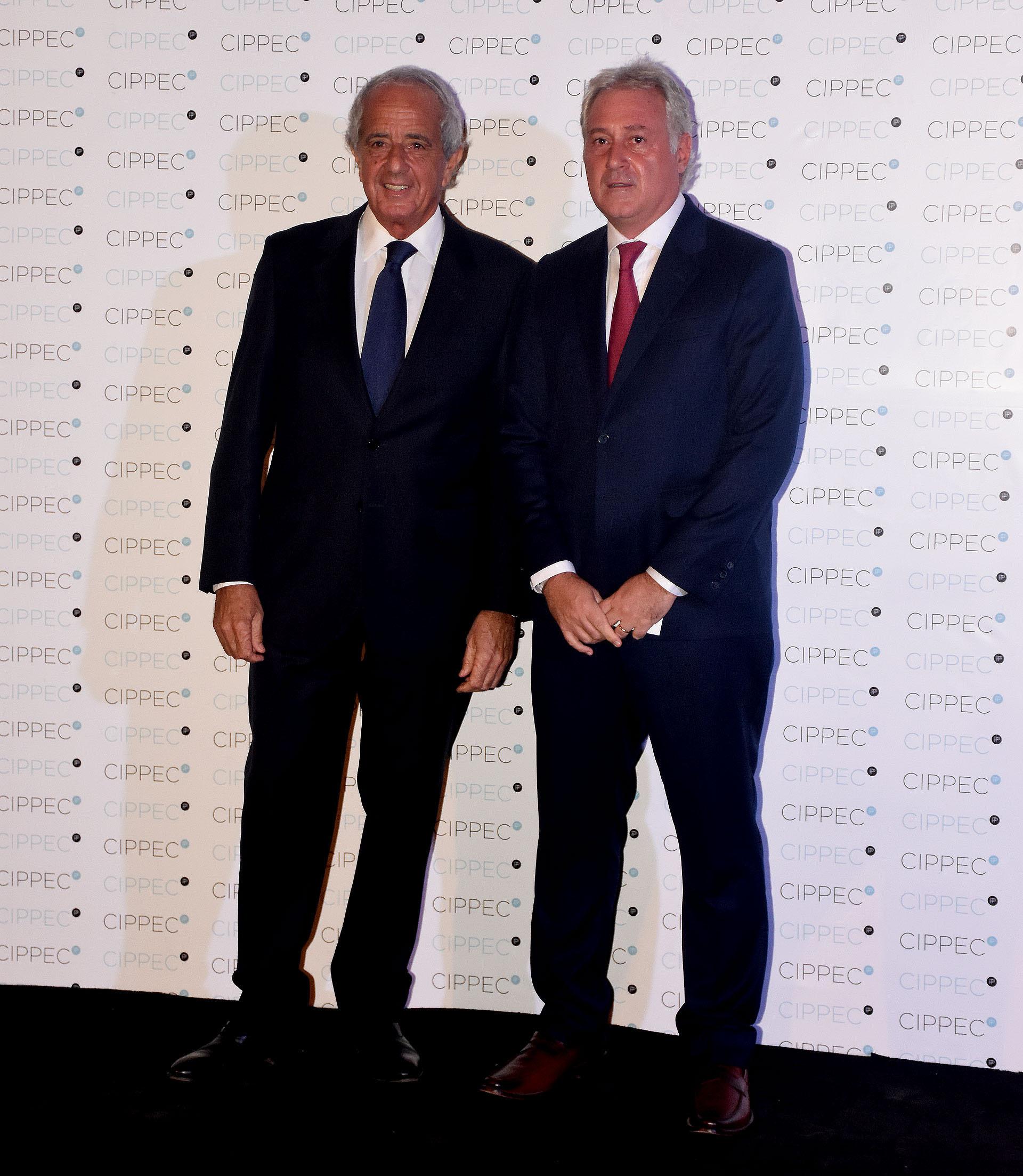 Rodolfo D'Onofrio, presidente de River Plate y Matías Patanian