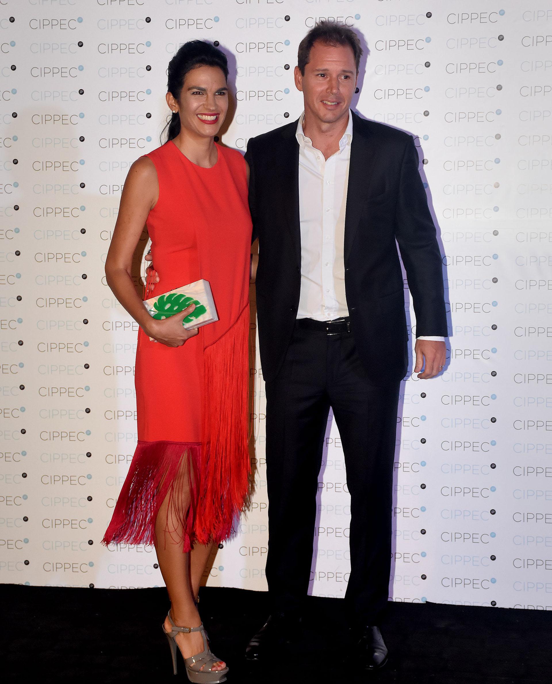 El presidente de ADEBA y vicepresidente primero de River Plate, Jorge Brito (h), y su mujer Gabriela Vaca Guzman