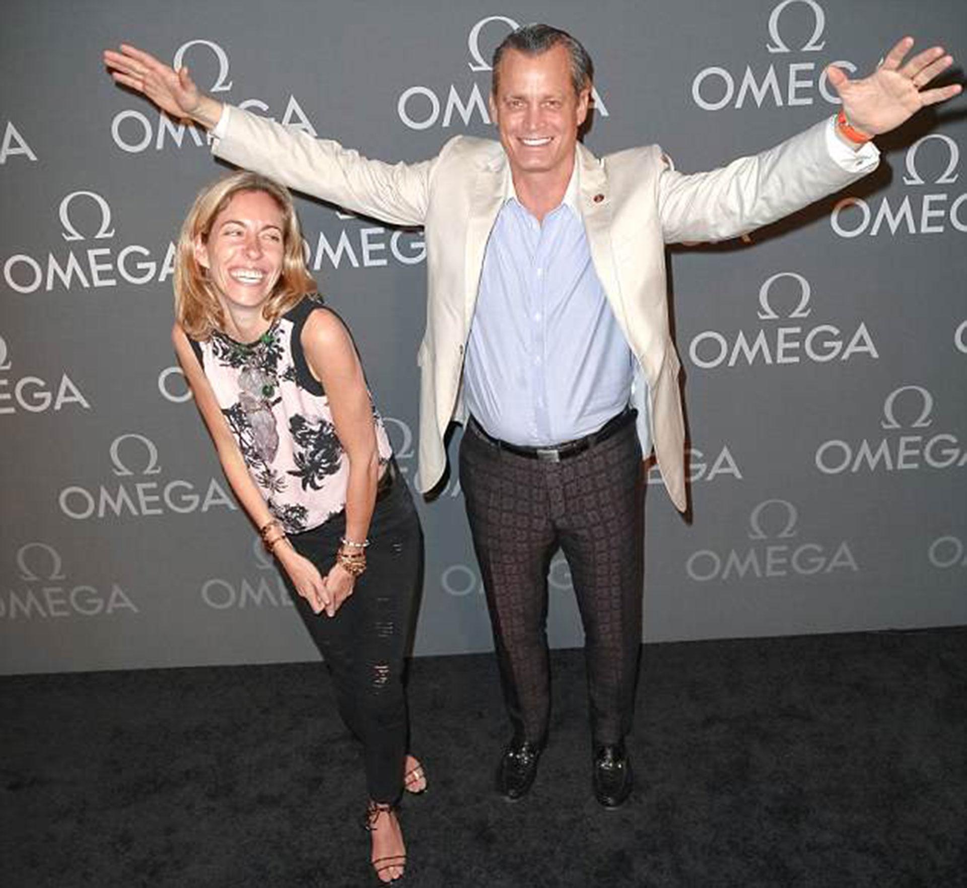 Matthew Mellon con su última esposa Nicole, con quien tuvo dos hijos, en junio de 2014 (Shutterstock)