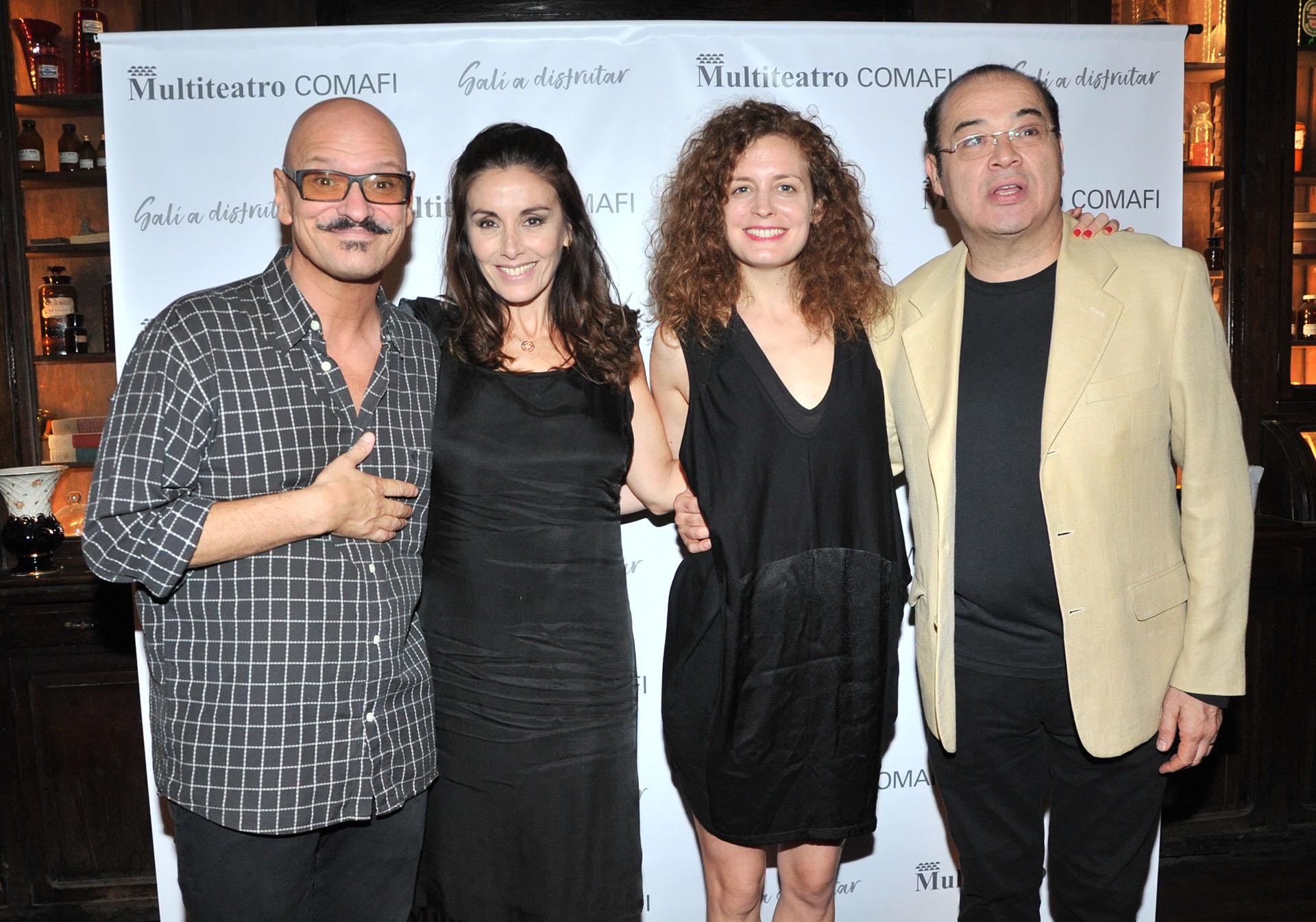 """Carlos Bellozo, Viviana Saccone, María Zubiri y Jorge Suárez, integrantes de la obra """"El Test"""""""