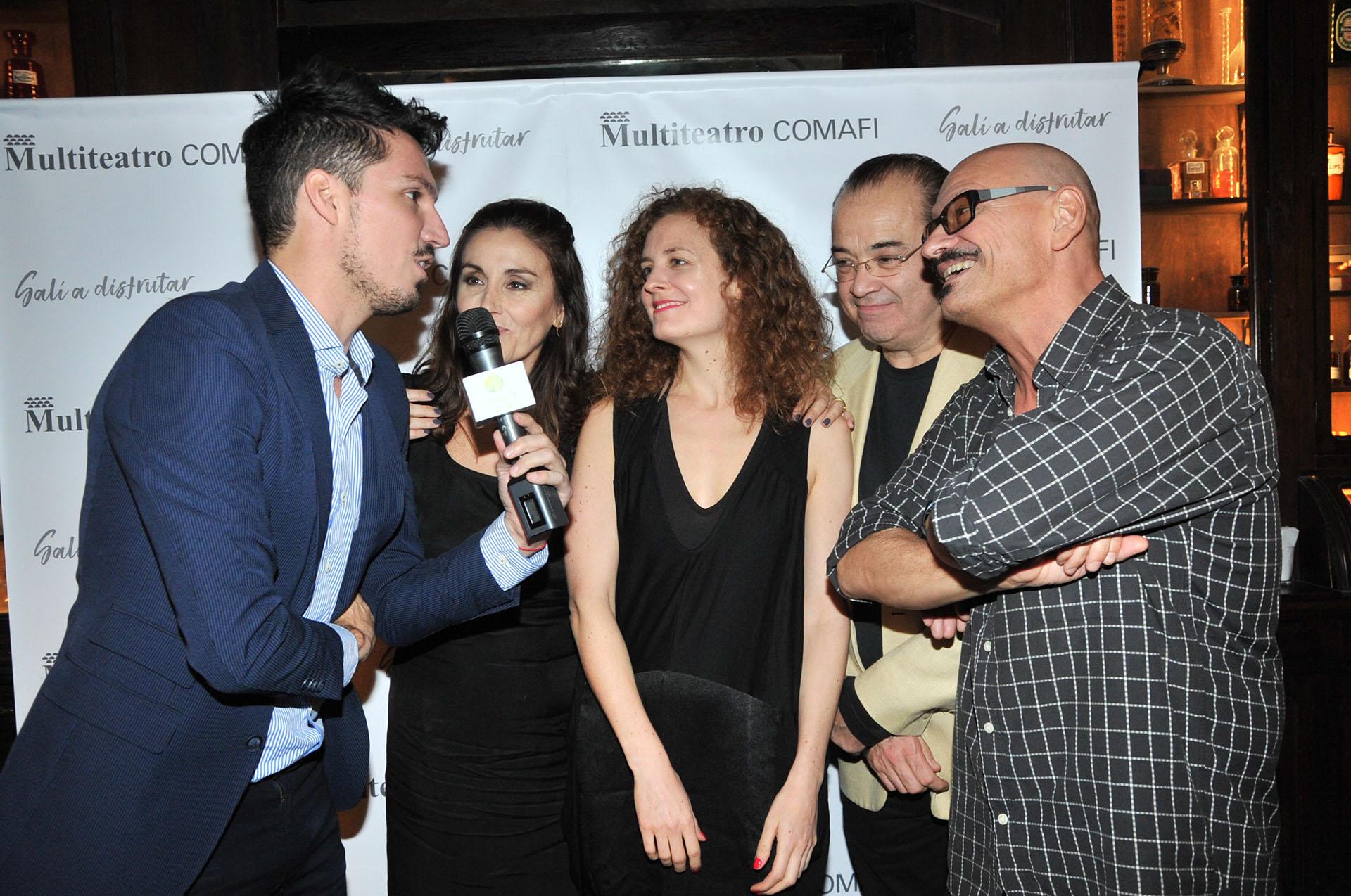 """Guido Zaffora entrevistando al elenco de """"El Test"""""""