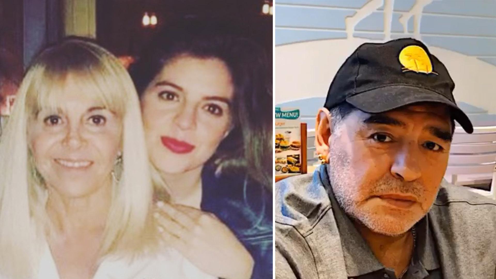 La grieta en los Maradona: Claudia y Dalma de un lado, Diego del otro