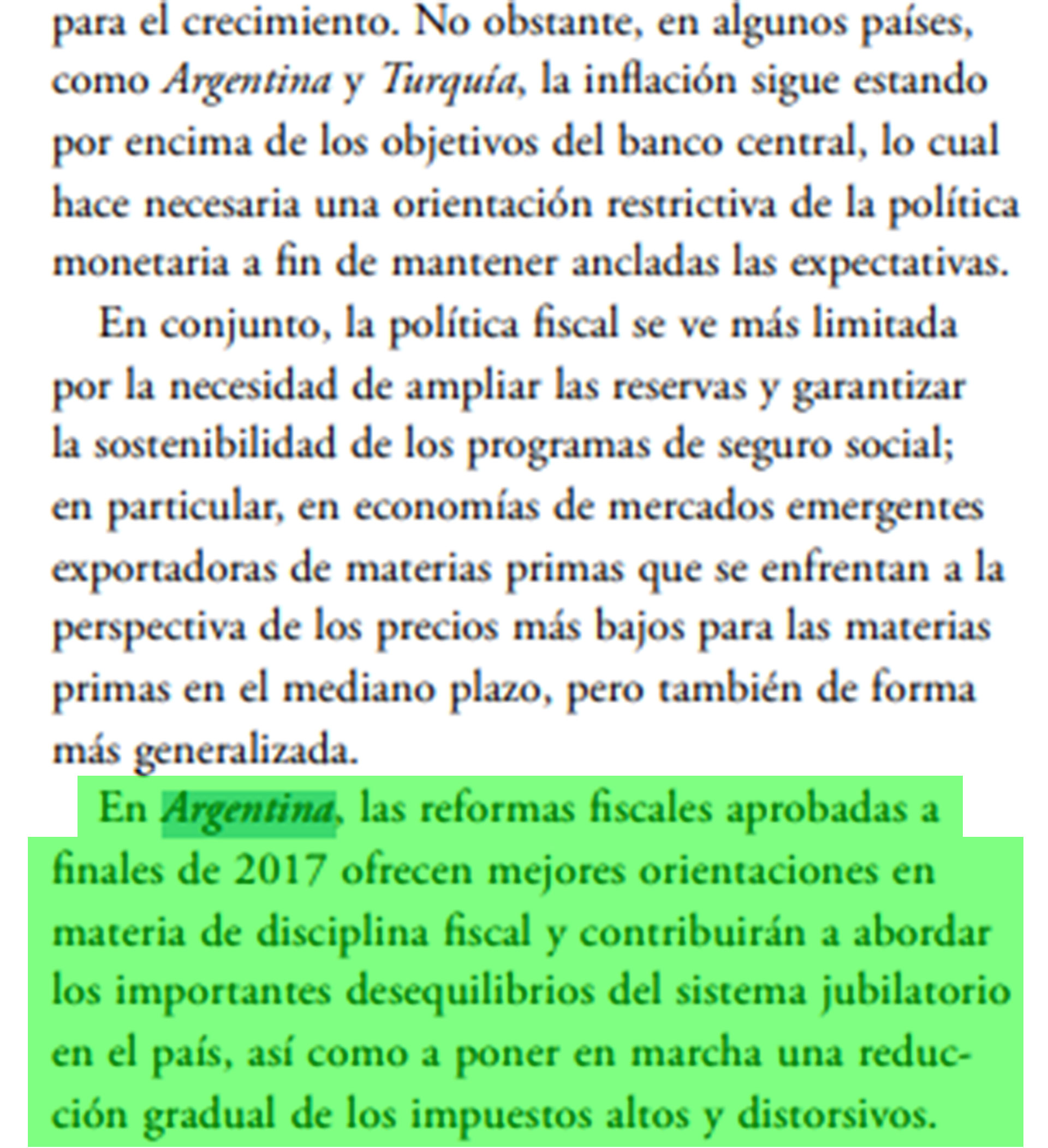 El reporte del FMI destaca la situación monetaria y fiscal del país
