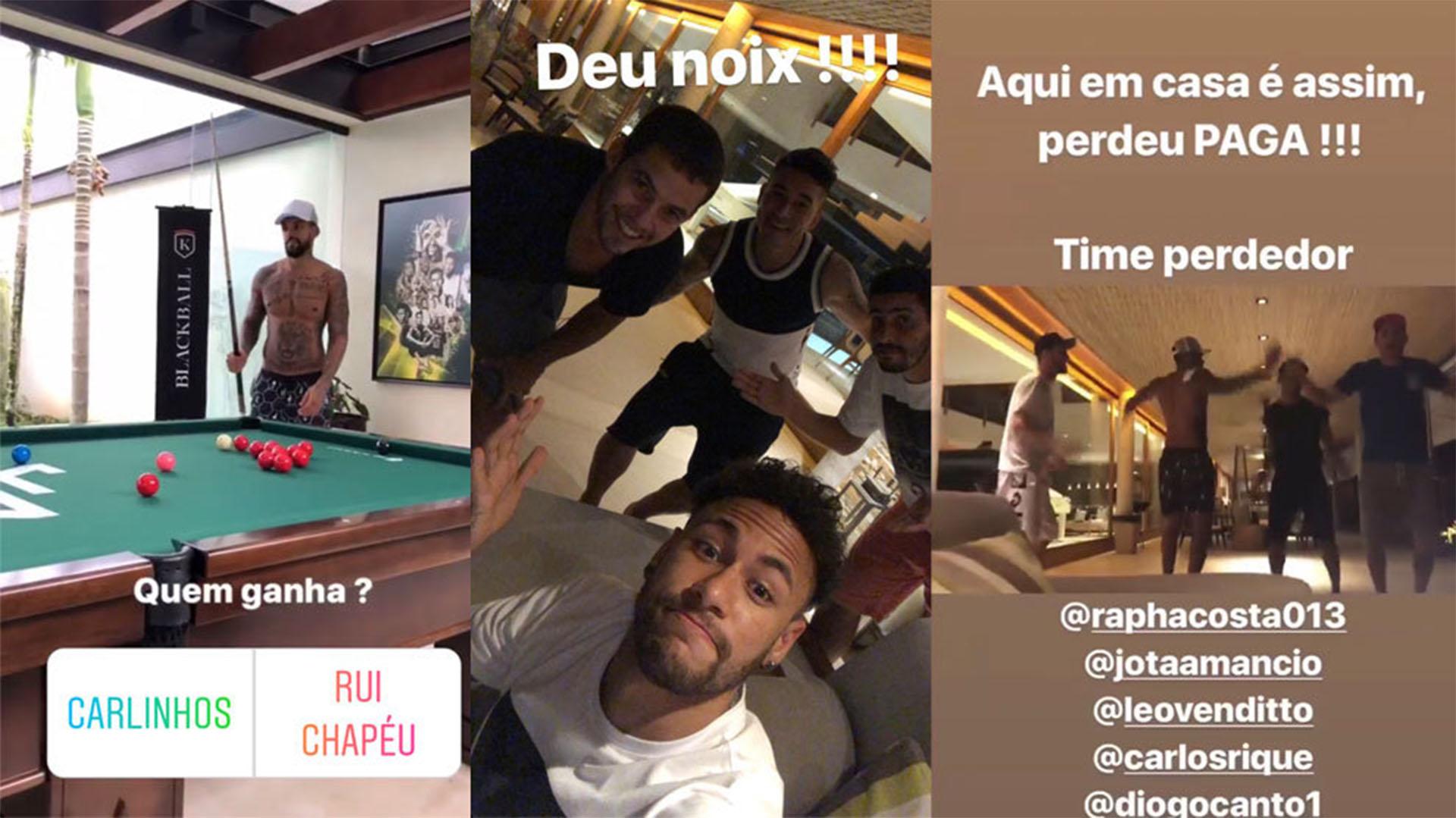 El brasileño compartió imágenes en su Instagram, lejos de sus compañeros