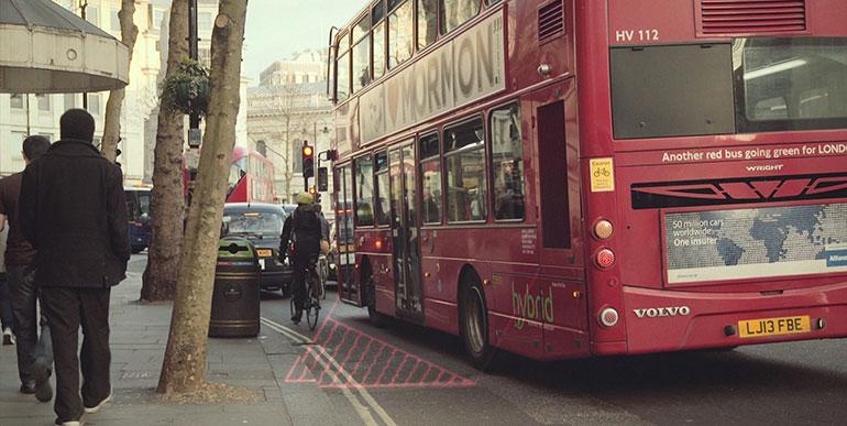 """El """"Punto ciego"""" al conducir los vehículos. Uno de los peligros que enfrentan los ciclistas cuando circulan en las ciudades."""