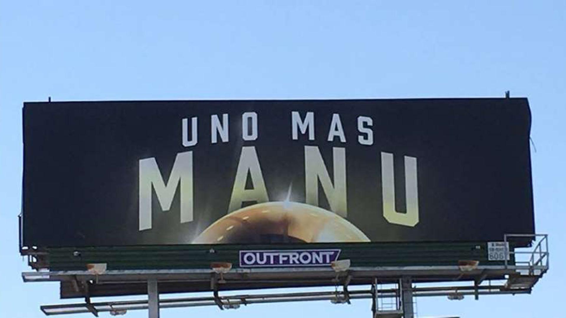 El cartel que pagó un aficionado de San Antonio con el pedido de todos los hinchas