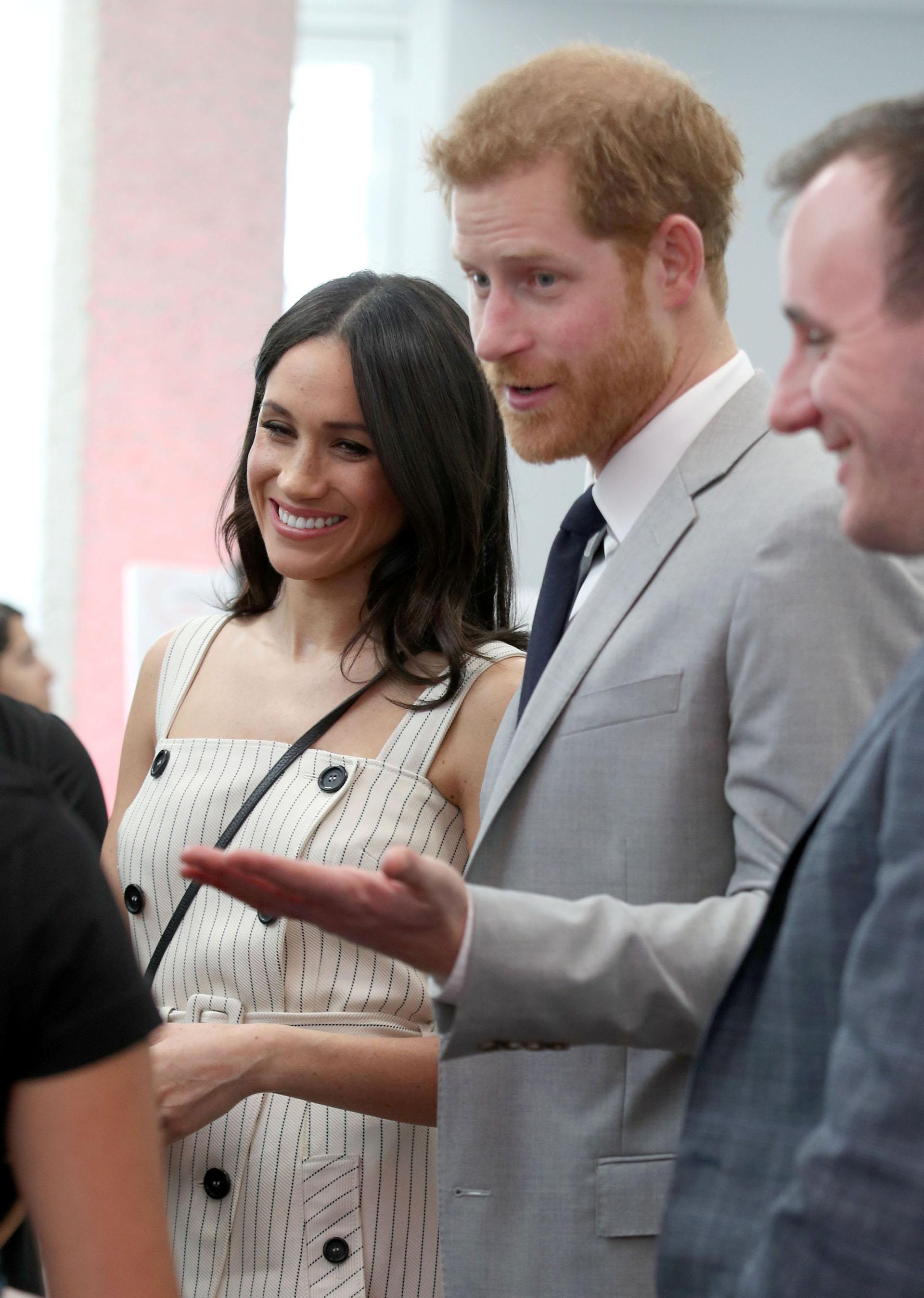 Acompañó a su futuro marido en cada acto público, como fue la recepción Commonwealth