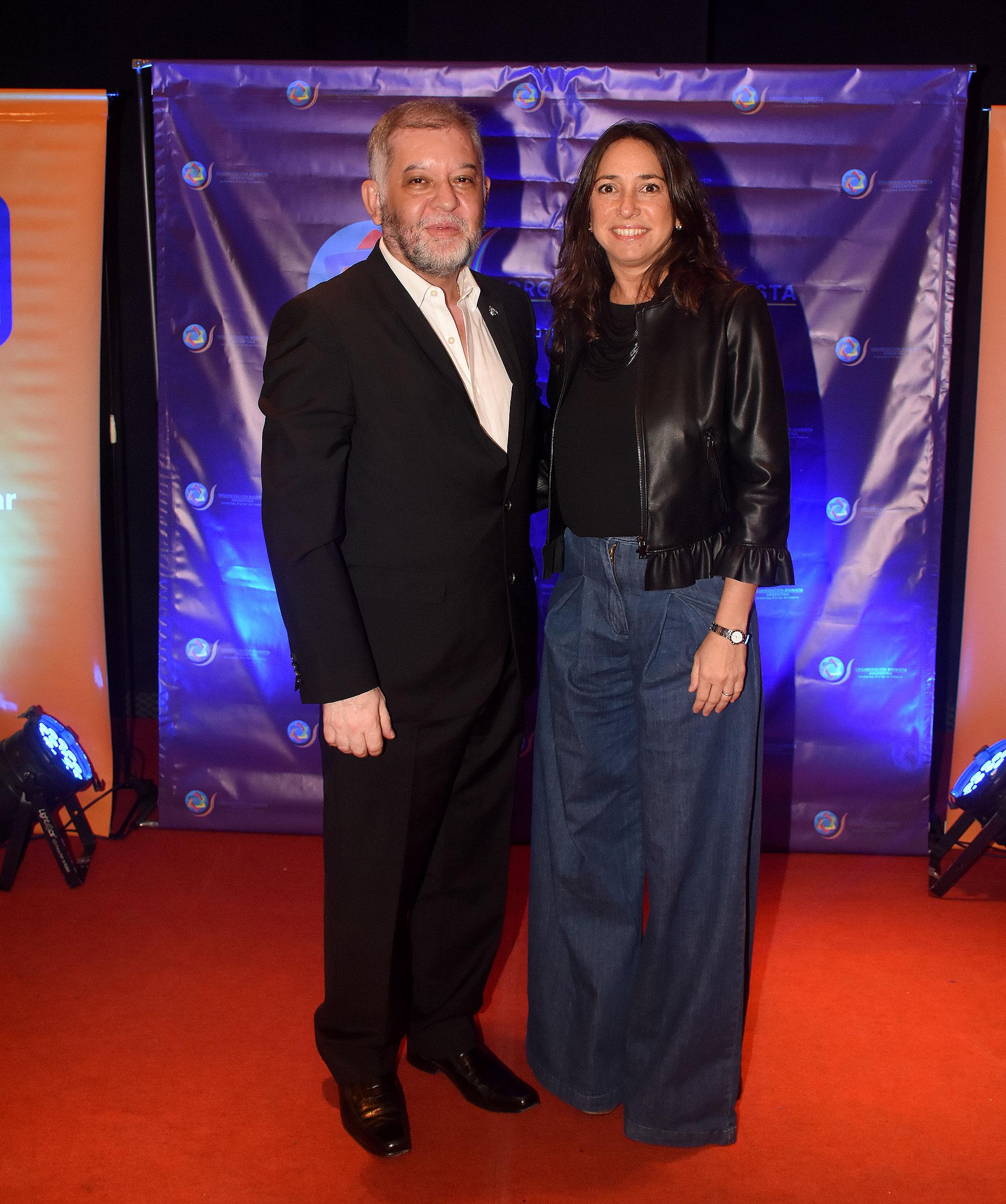 Sergio Pikholtz y Pamela Malewicz, subsecretaria de Derechos Humanos y Pluralismo Cultural porteña