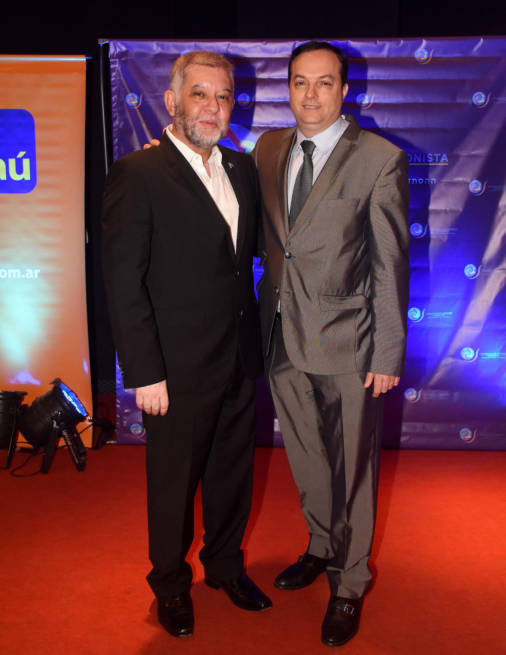 El presidente de la Agrupación Sionista Argentina, Sergio Pikholtz, y el presidente de la DAIA, Ariel Cohen Sabban