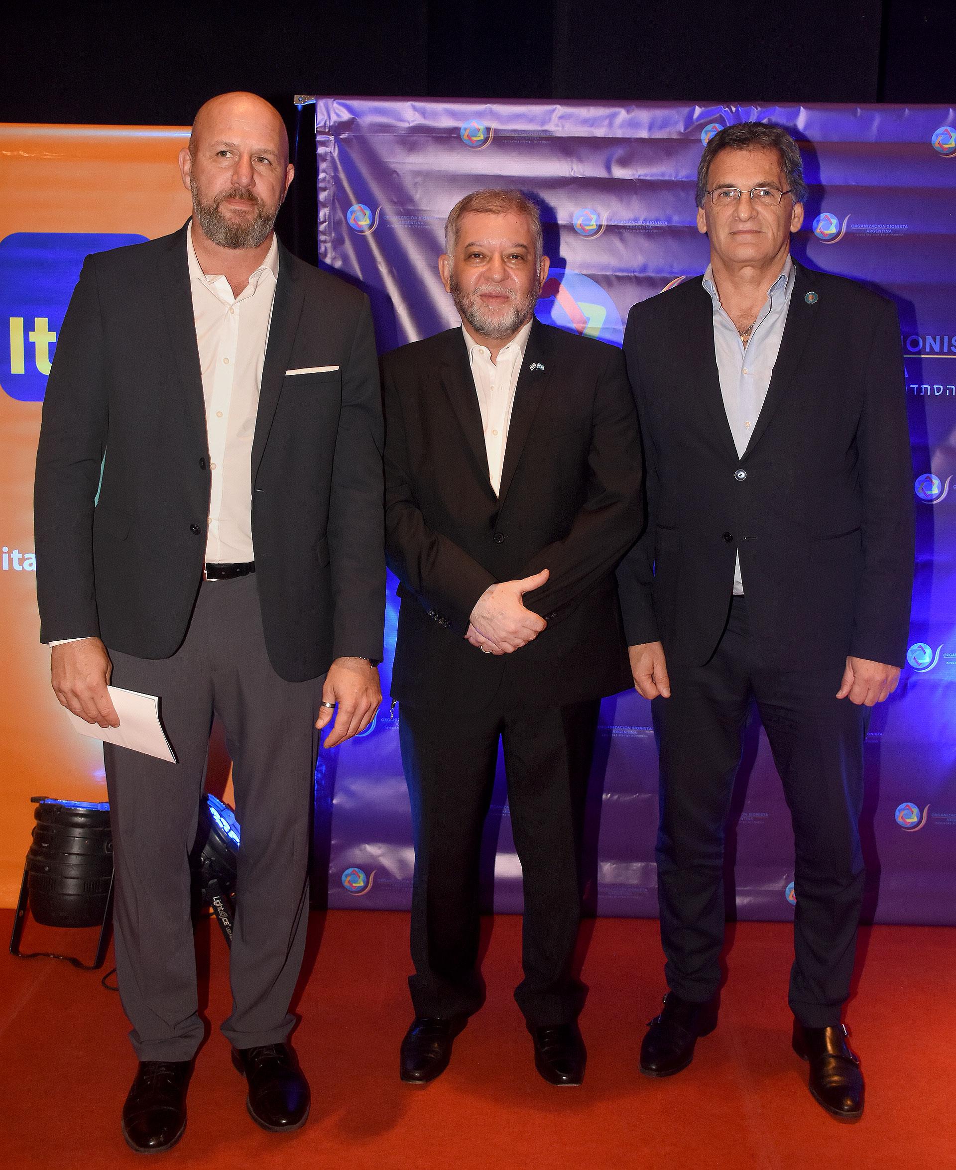 Waldo Wolff, Sergio Pikholtz y Claudio Avruj
