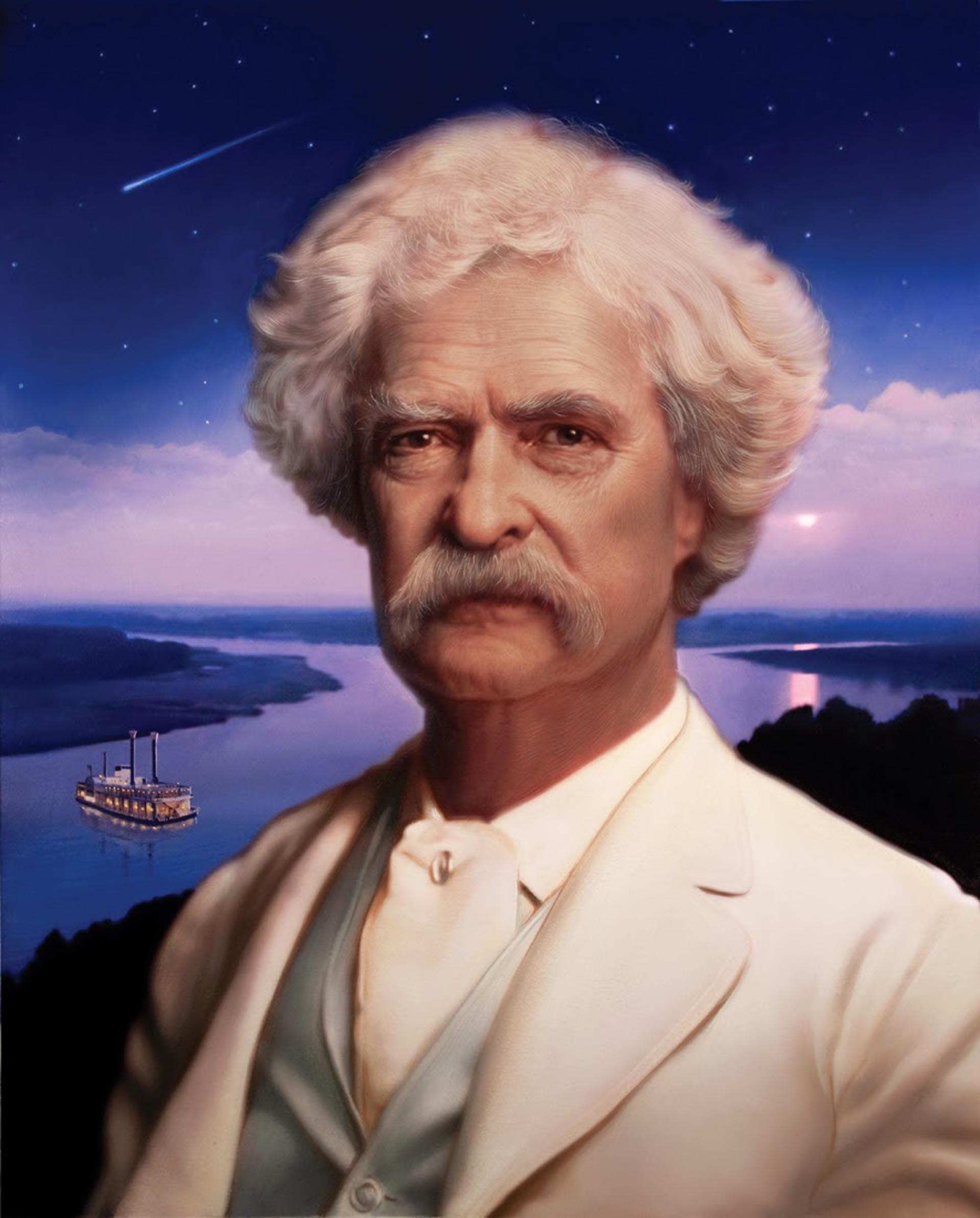 Mark Twain nació y murió tras el paso del cometa Halley
