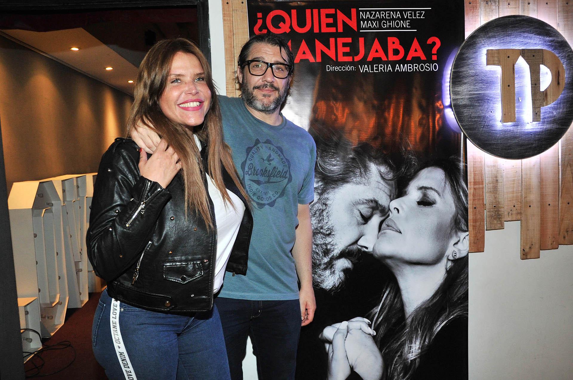 Nazarena Vélez y Maxi Ghione, protagonistas del espectáculo