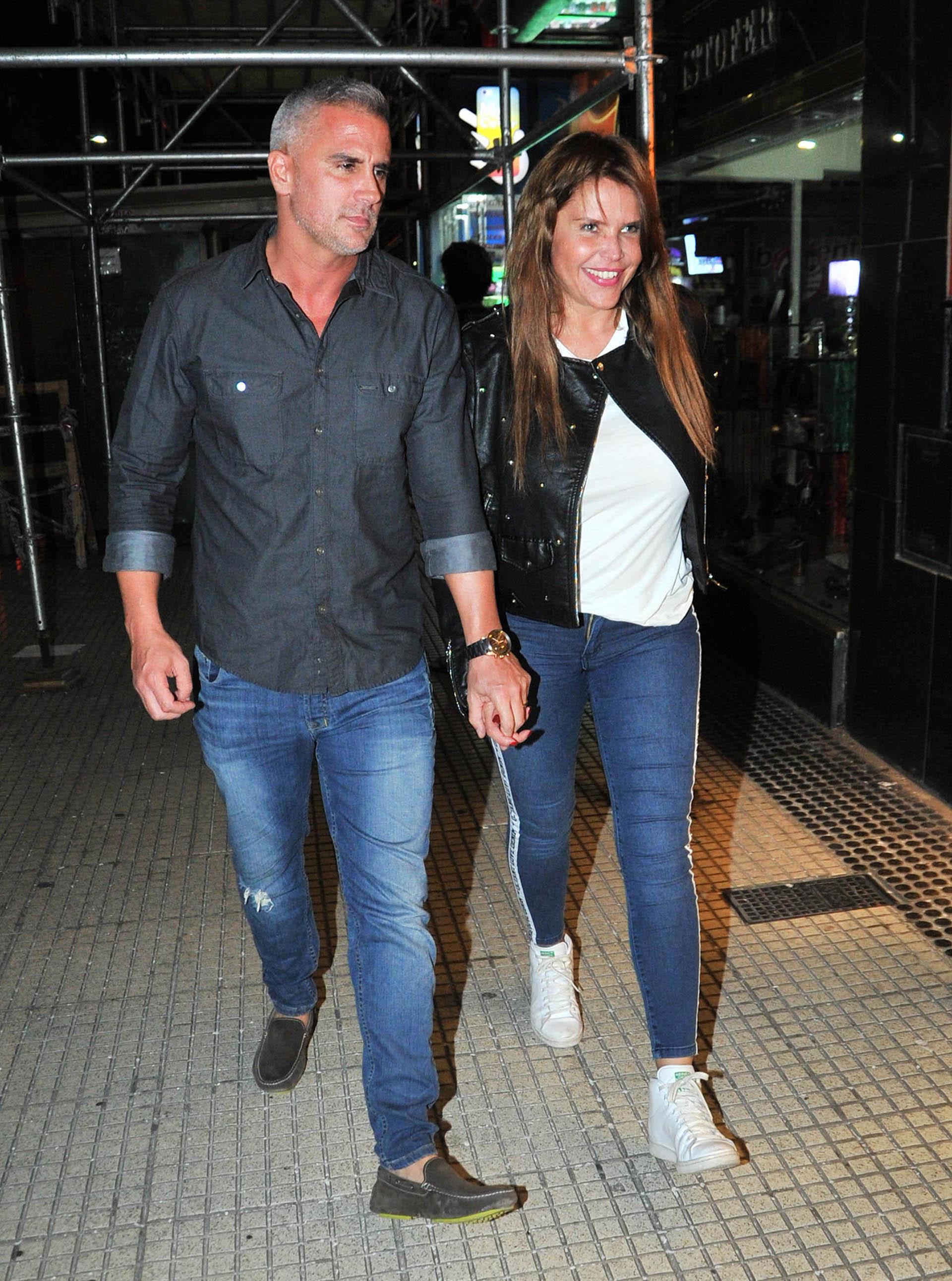Nazarena Vélez y su novio Leandro Camani (Verónica Guerman / Teleshow)