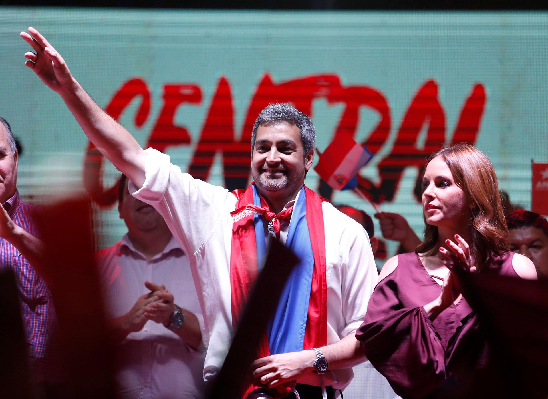 El candidato del Partido ColoradoMario Abdo Benítez(Reuters)