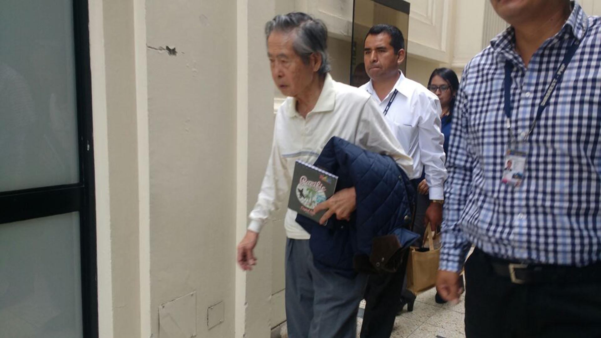 Alberto Fujimori asistió a una audiencia de la Sala Nacional Penal de Perú el pasado 20 de abril