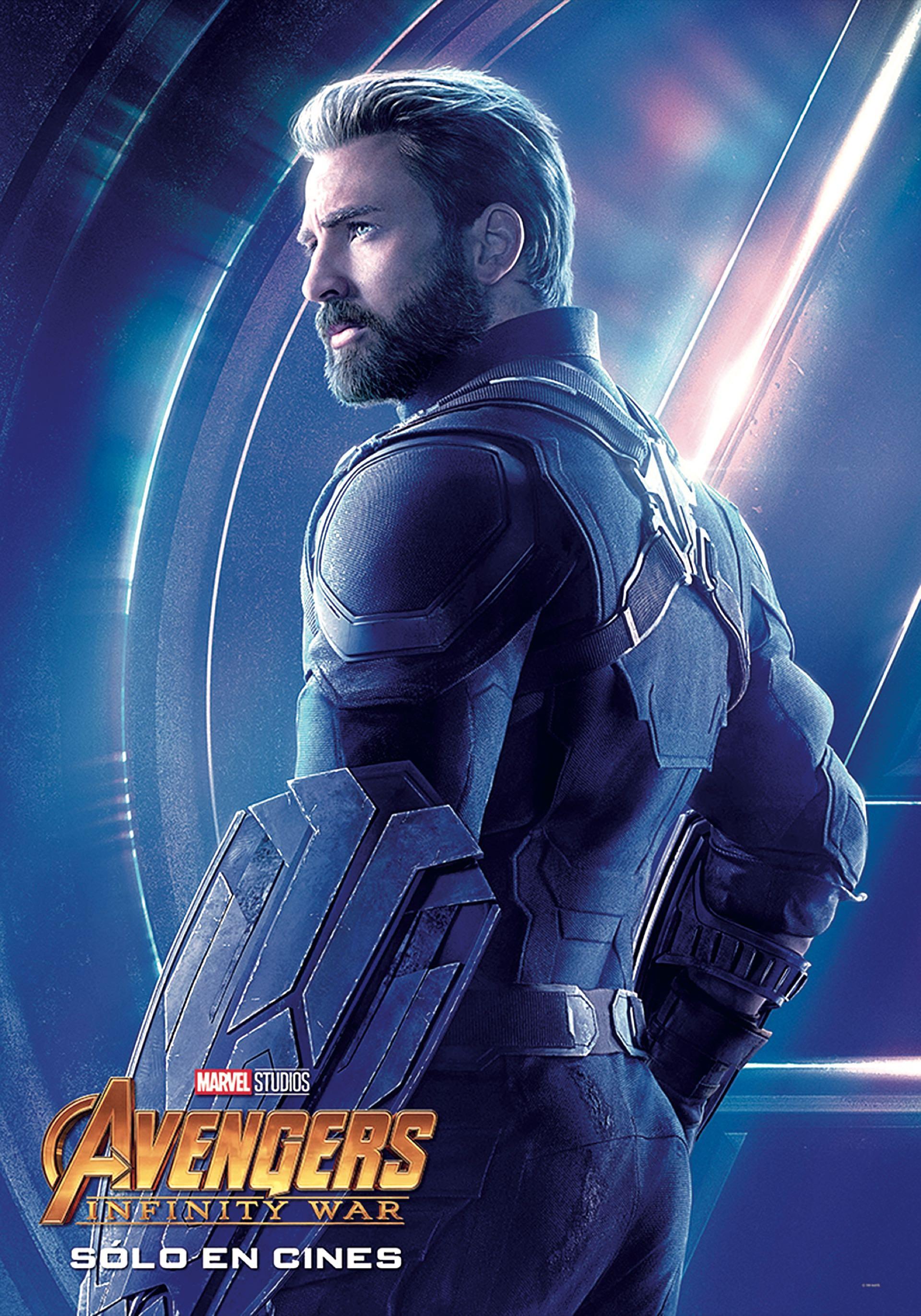 CAPITAN AMERICA. Uno de los infaltables, estrella entre los superhéroes de Marvel. El bostoniano Chris Evans, de 36 años, alcanzó fama mundial gracias a él.