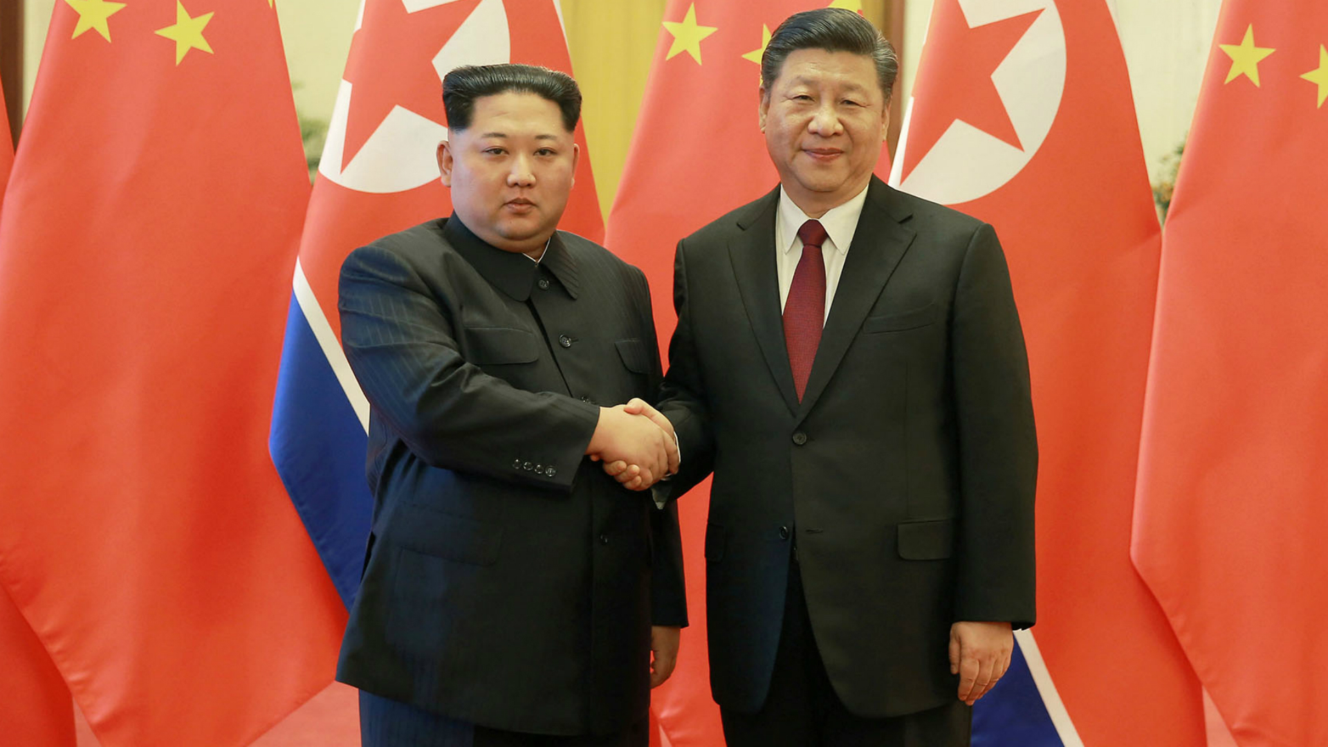 El dictador norcoreano y el presidente chino en Beijing durante una reunión en marzo.