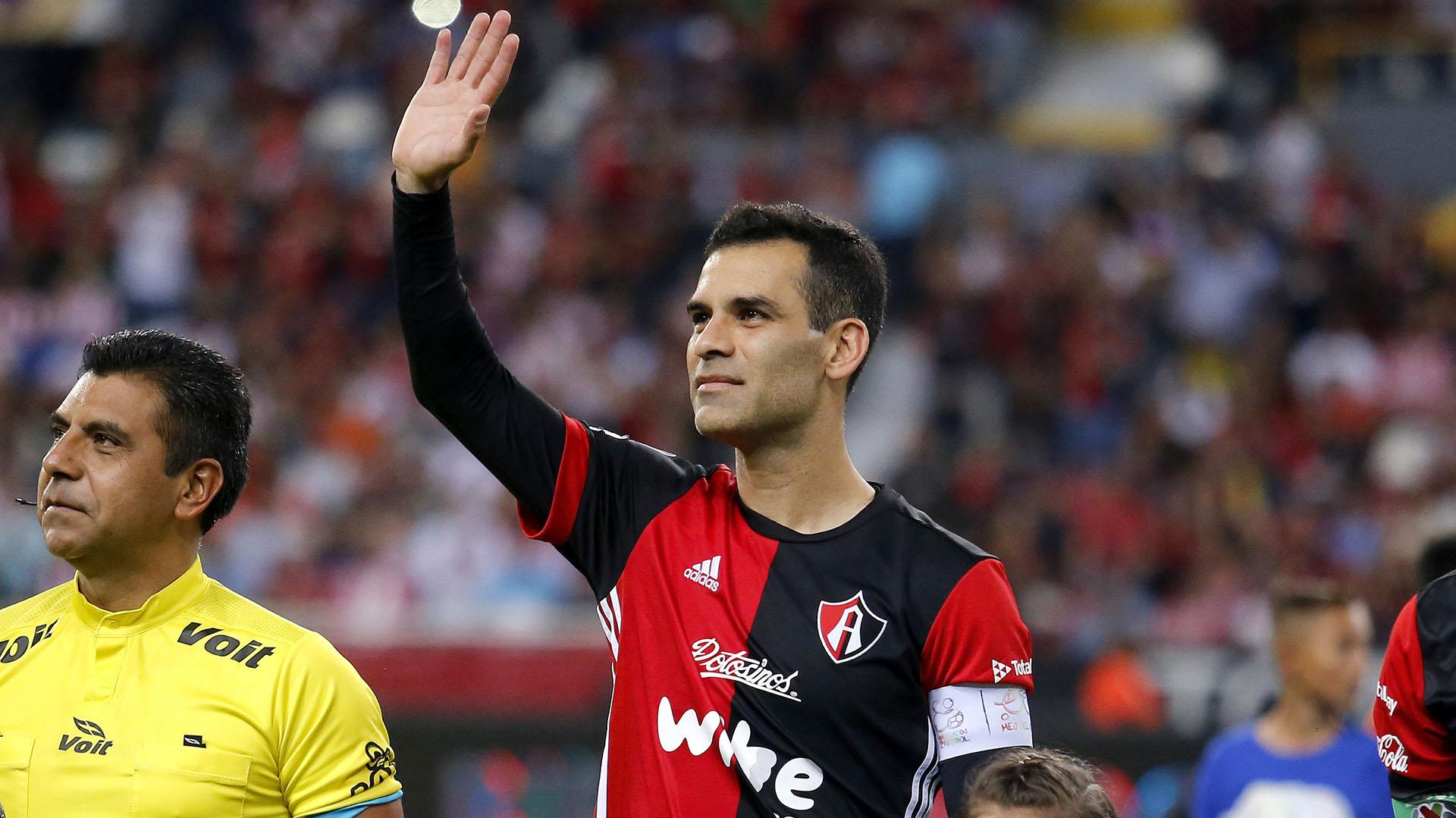 Márquez, en su despedida a nivel de clubes con el Atlas de México (Foto: Ulises Ruiz/ AFP)