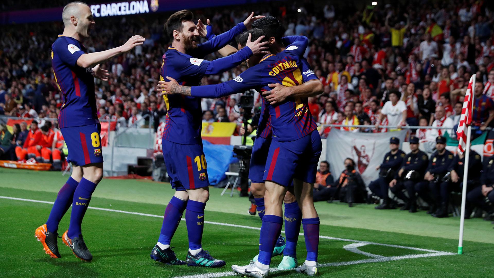 La último final entre ambos fue 5-0 para el Barcelona (Reuters)