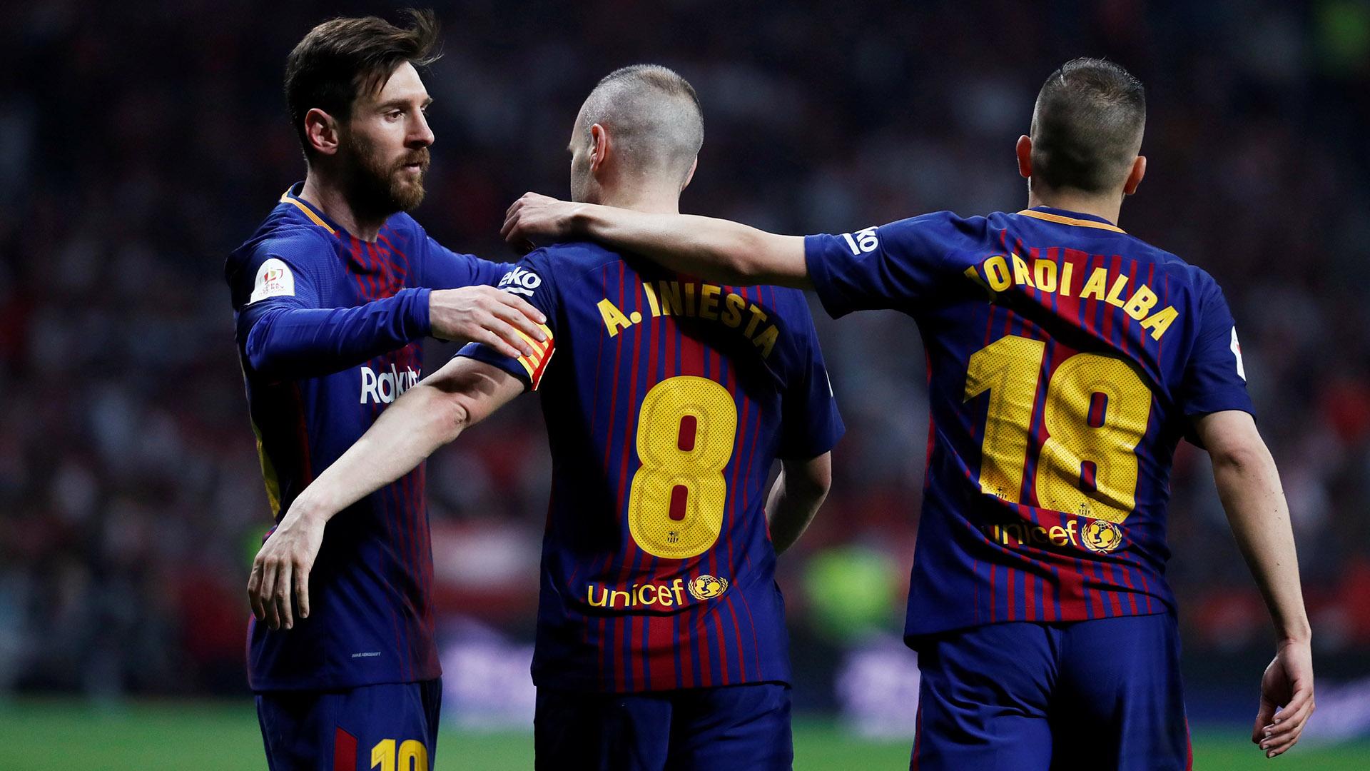 Andrés Iniesta jugará hoy su último partido como futbolista profesional en el Barcelona FC. Messi volverá a ser su socio predilecto(REUTERS)