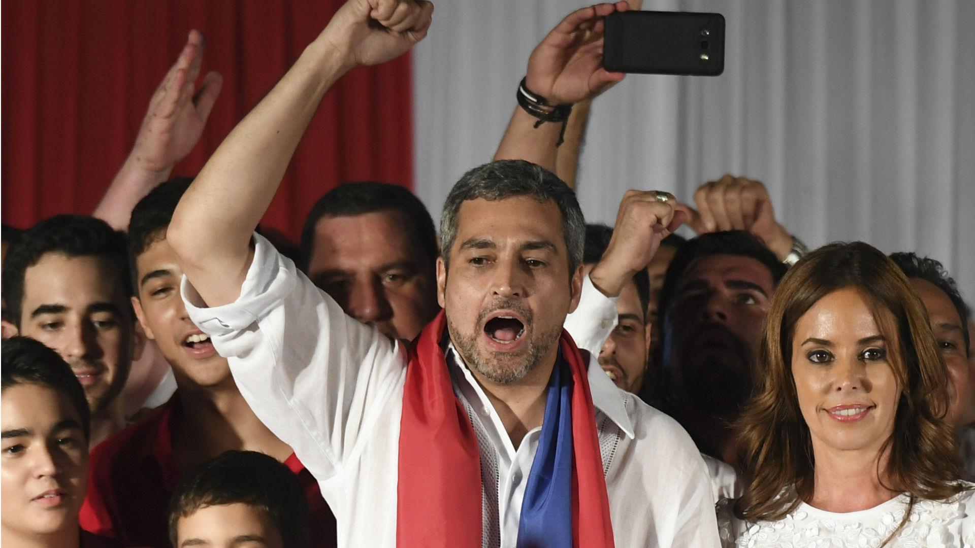 Mario Abdo, presidente de Paraguay (AFP)