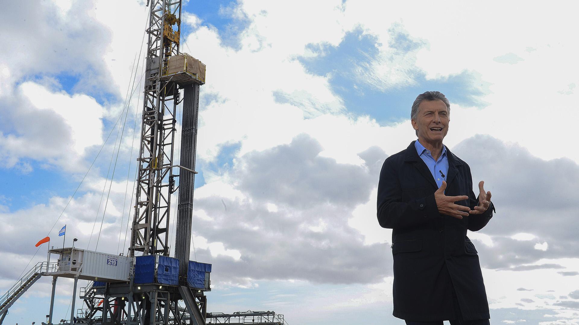El presidente Mauricio Macri habló ayer desde Vaca Muerta. Fue un mensaje grabado (NA)