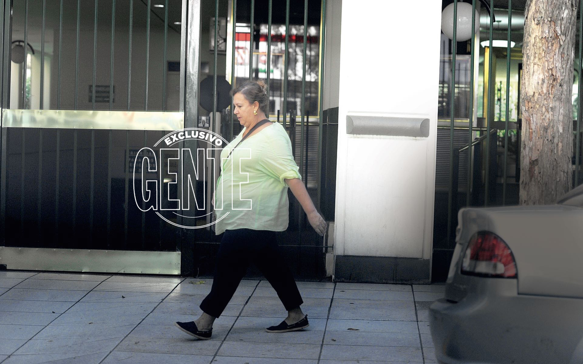 María Isabel Santos Caballero,la viuda de Pablo Escobar pasea por Palermo a días de presentarse en la justicia (Foto Enrique García Medina/GENTE)