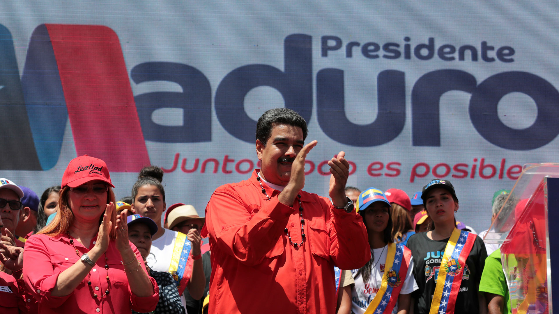 Nicolás Maduro en un acto de campaña (AFP)